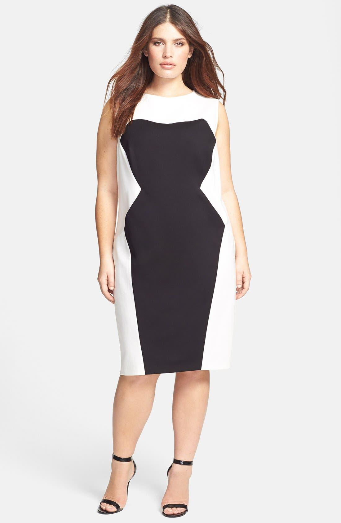 Colorblock Sheath Dress,                         Main,                         color, 006