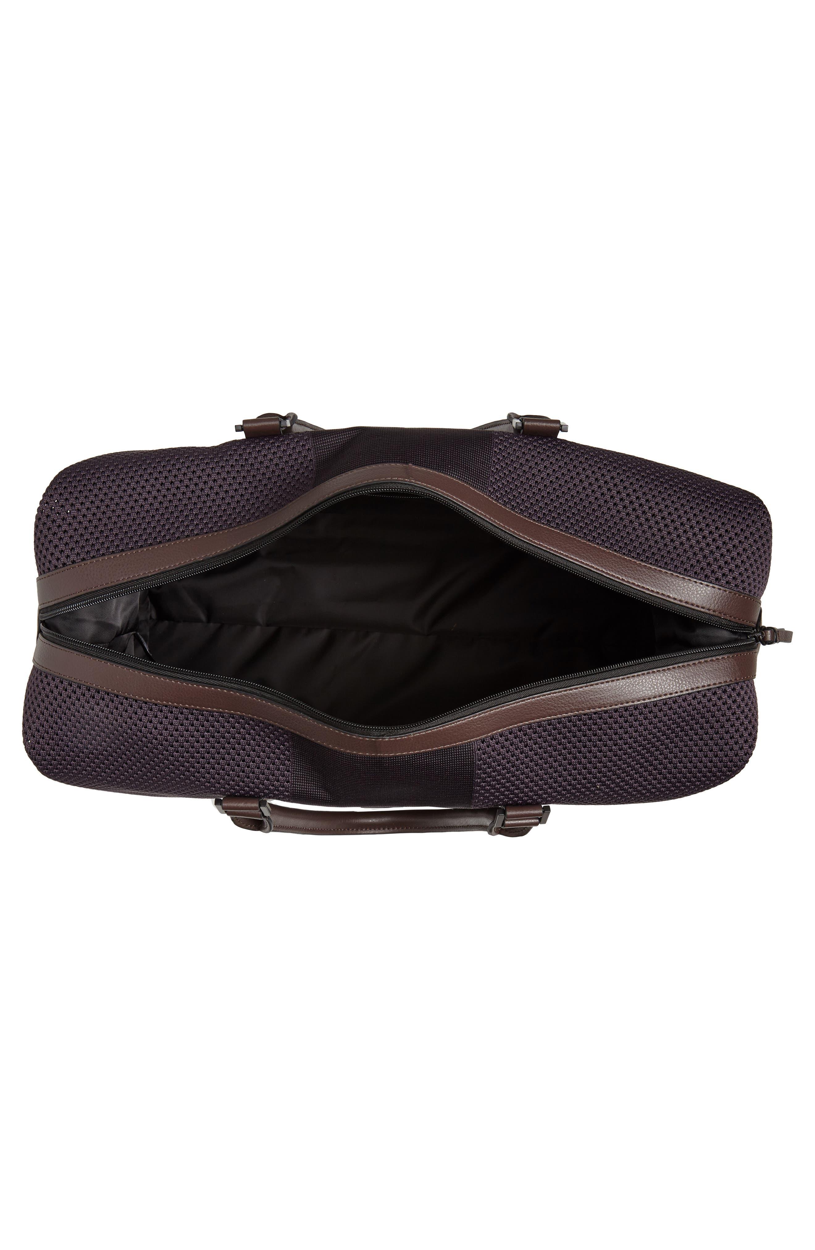 TED BAKER LONDON,                             Knit Holdall Duffel Bag,                             Alternate thumbnail 4, color,                             531