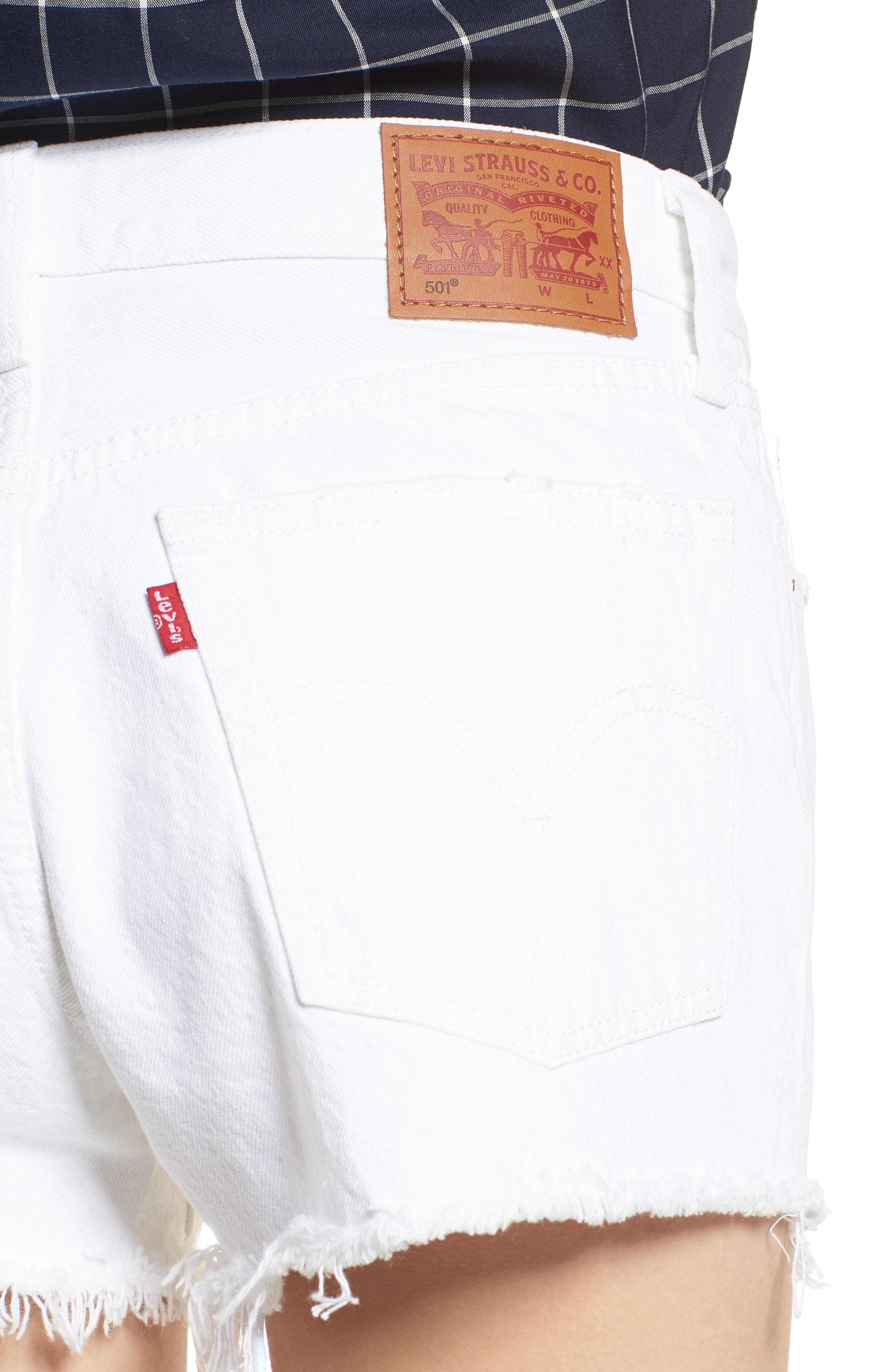 LEVI'S<SUP>®</SUP>,                             501<sup>®</sup> Cutoff Denim Shorts,                             Alternate thumbnail 4, color,                             101