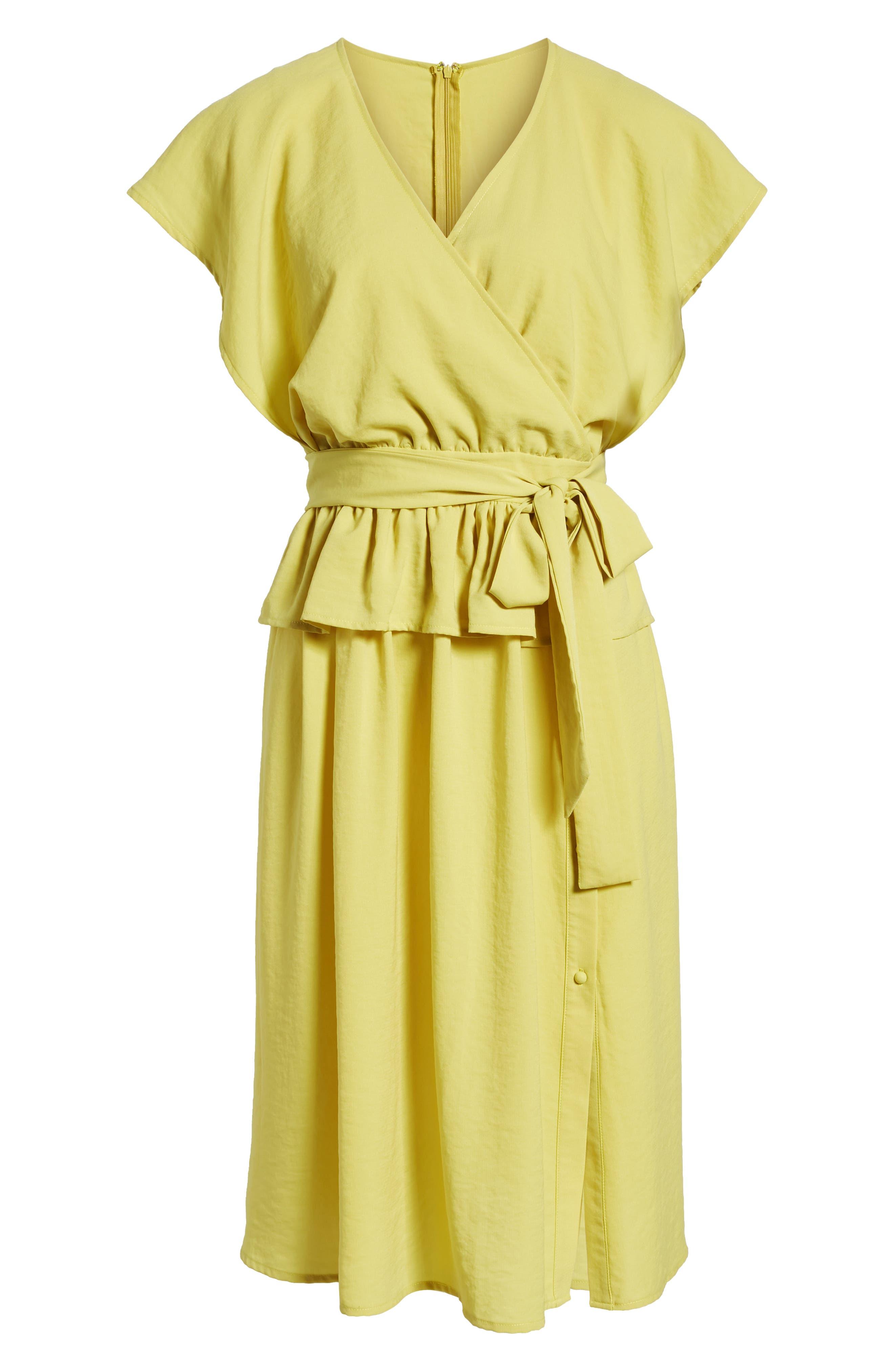 Wrap Midi Dress,                             Alternate thumbnail 7, color,