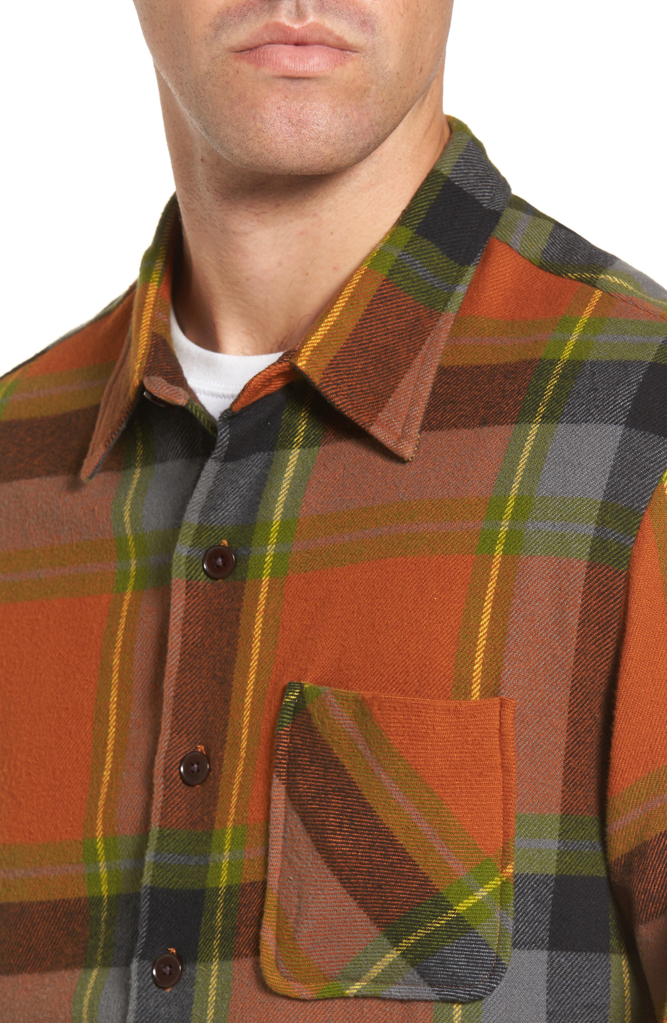 Denim Regular Fit Check Sport Shirt,                             Alternate thumbnail 4, color,                             840