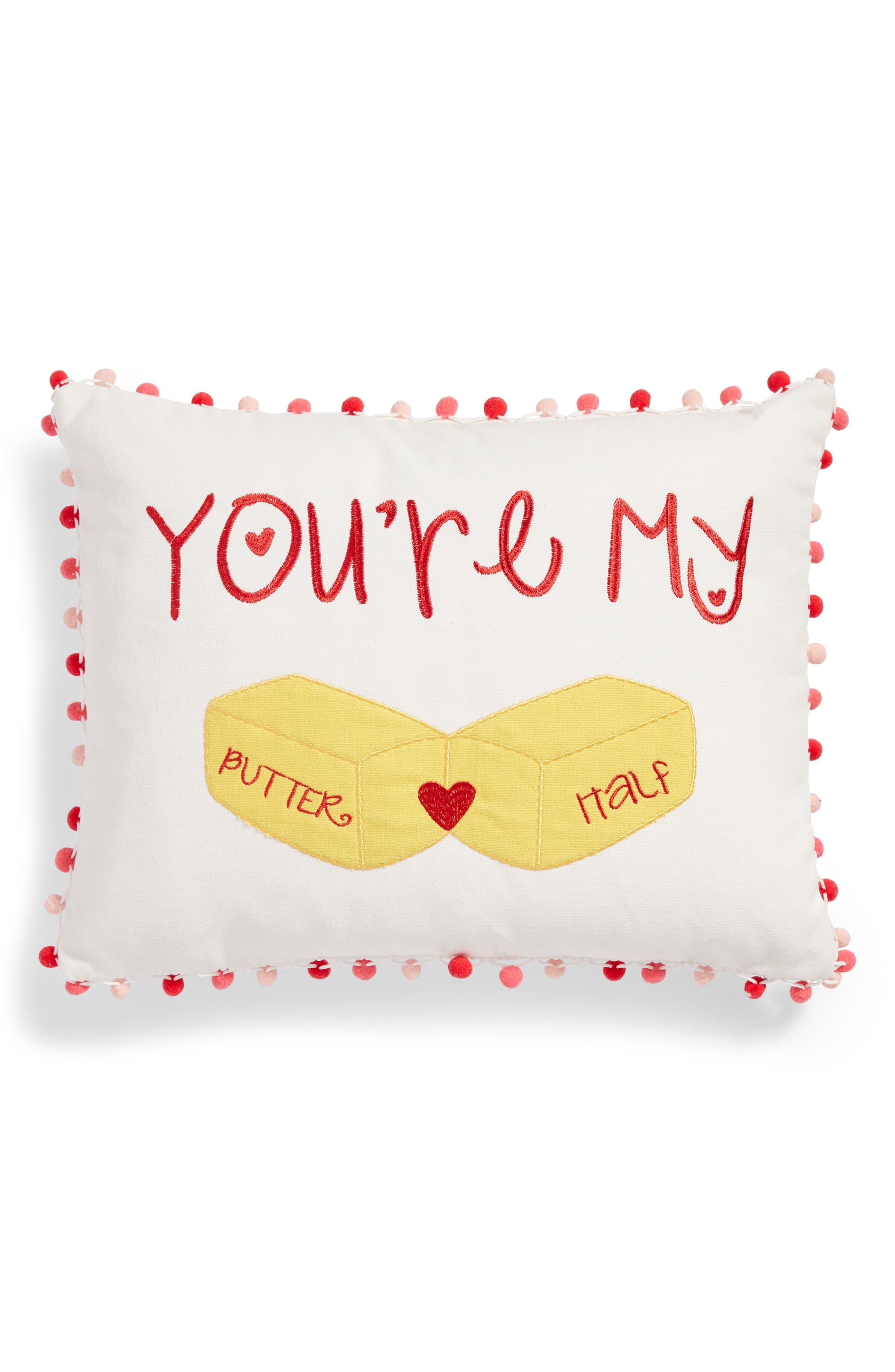 Butter Half Accent Pillow,                             Main thumbnail 1, color,