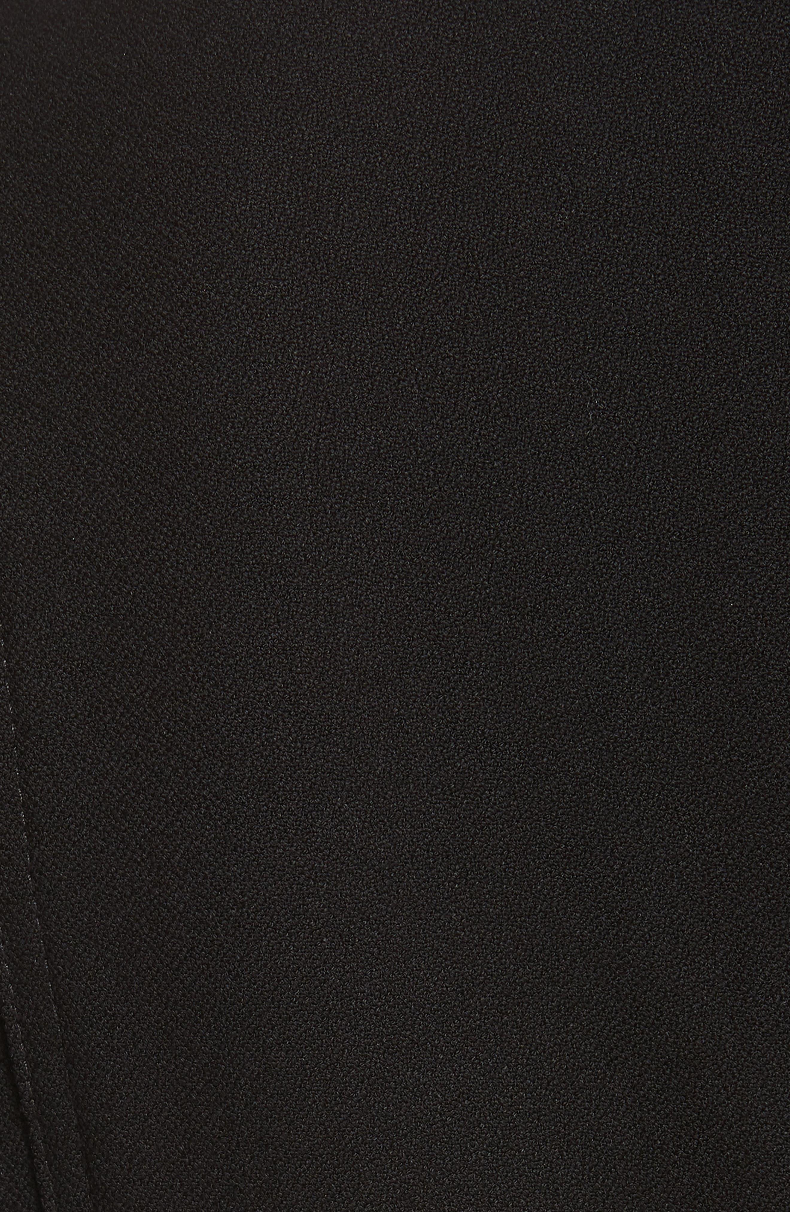 Nora Belted Minidress,                             Alternate thumbnail 5, color,                             BLACK