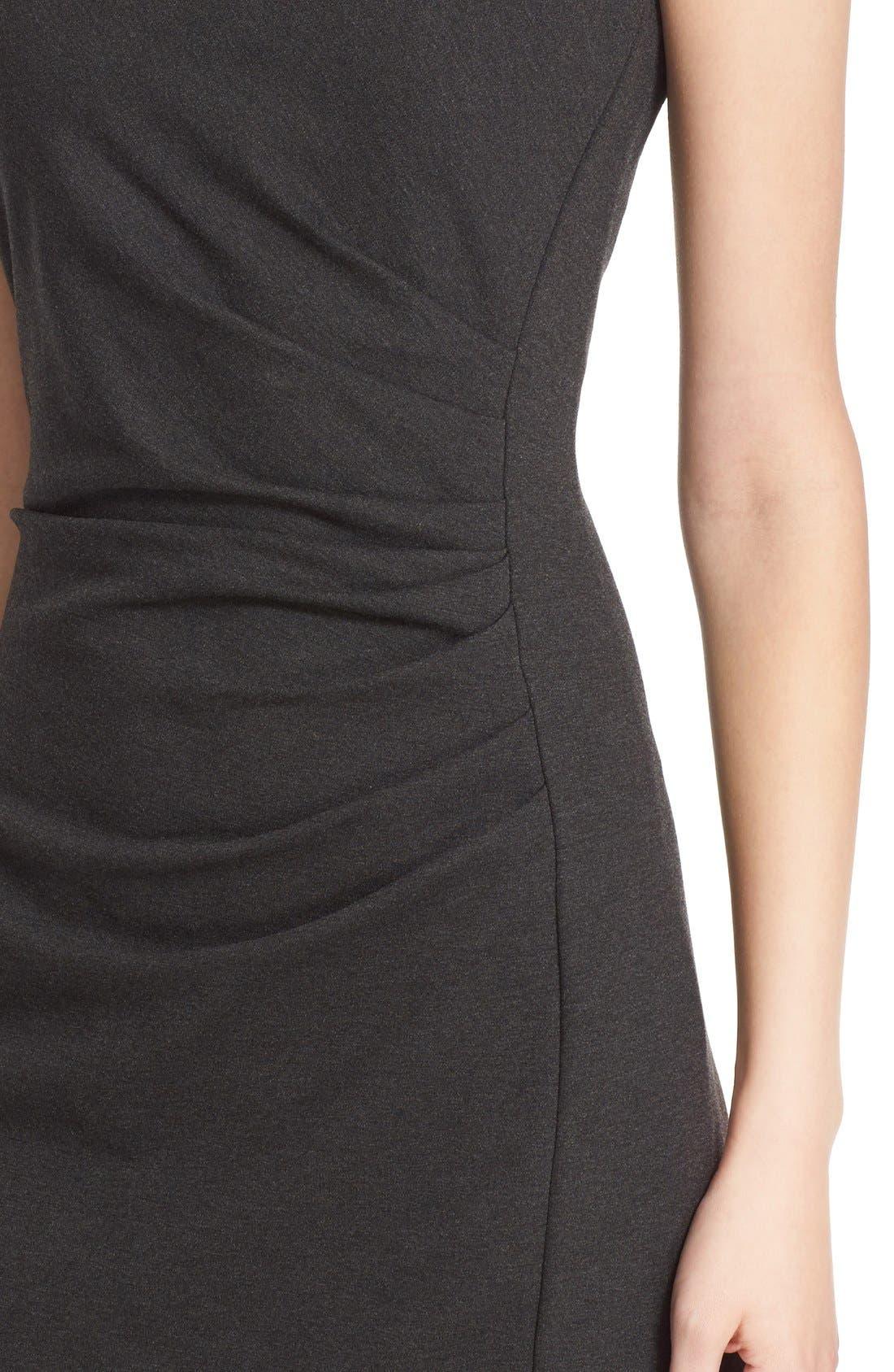 'Aligi' Sleeveless Jersey Sheath Dress,                             Alternate thumbnail 4, color,                             023