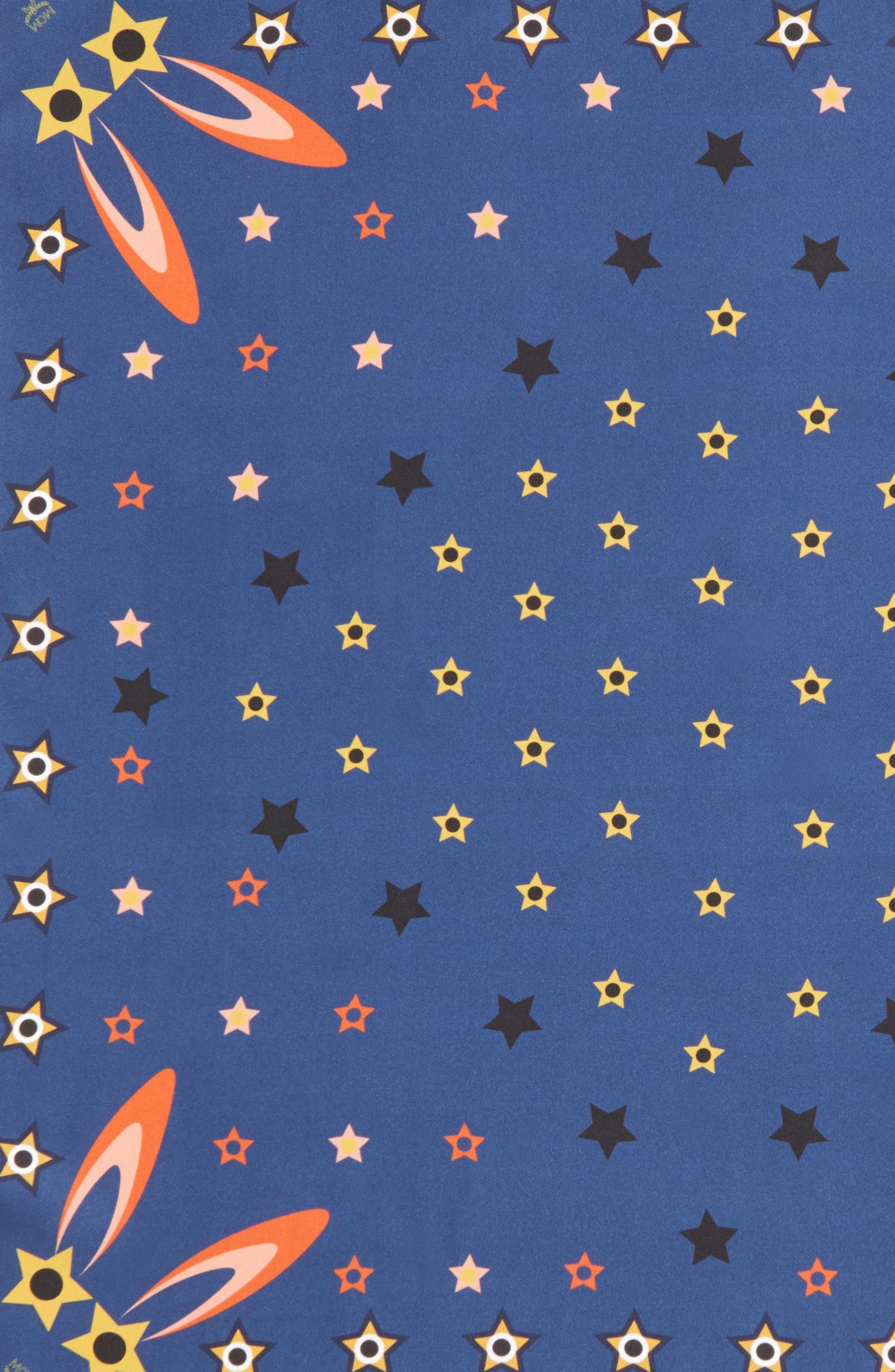Star-Eyed Bunny Silk Scarf,                             Alternate thumbnail 7, color,