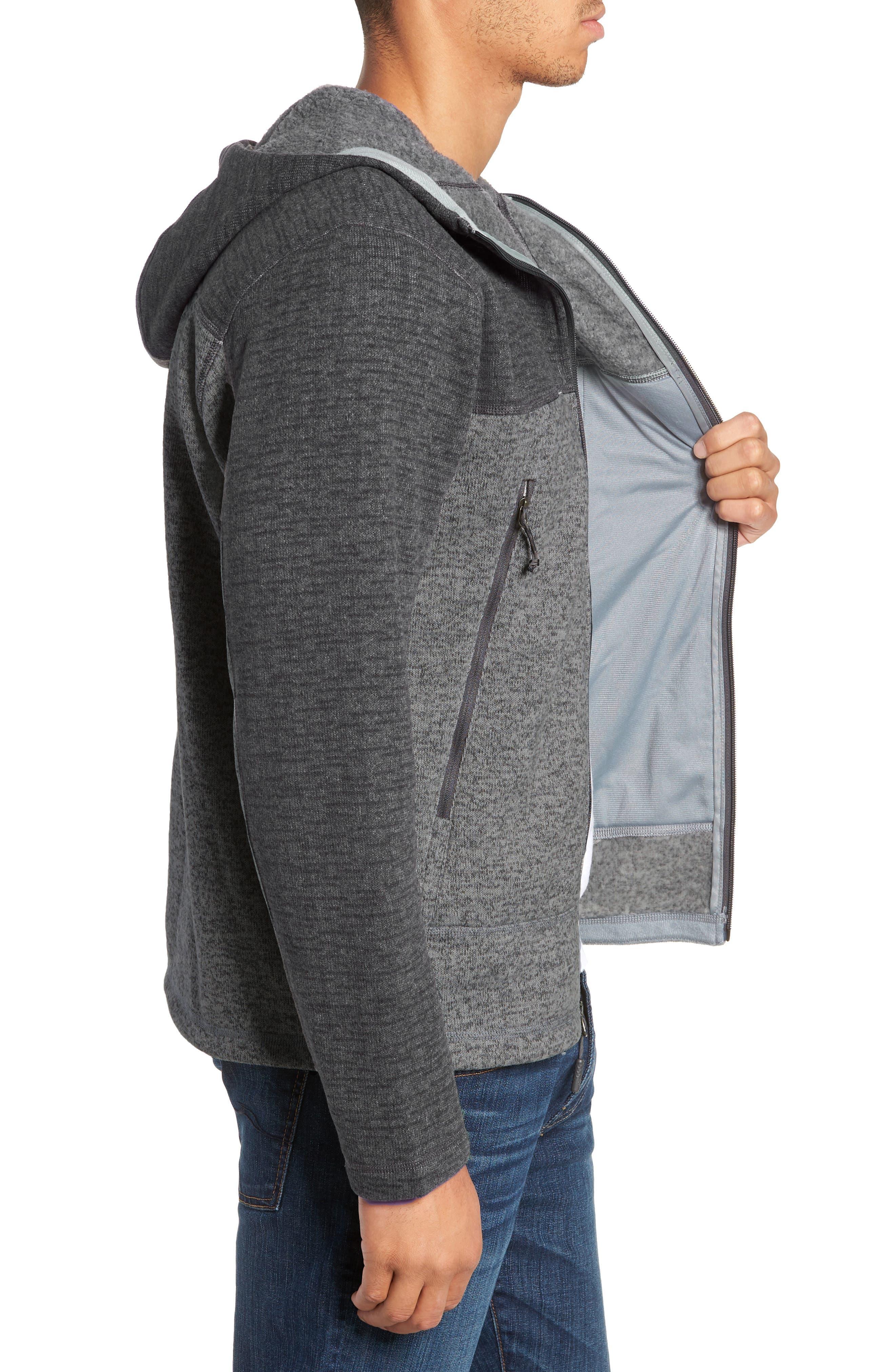 Gordon Lyons Alpine Sweater Fleece Hoodie,                             Alternate thumbnail 3, color,                             ASPHALT GREY/ MONUMENT GREY