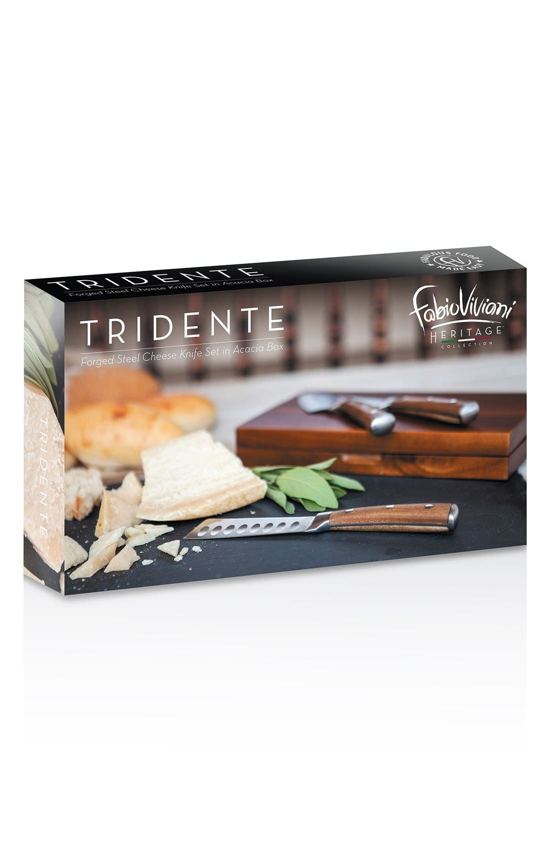 'Legacy Heritage Collection by Fabio Viviani - Tridente' Cheese Tools,                             Alternate thumbnail 3, color,                             BROWN
