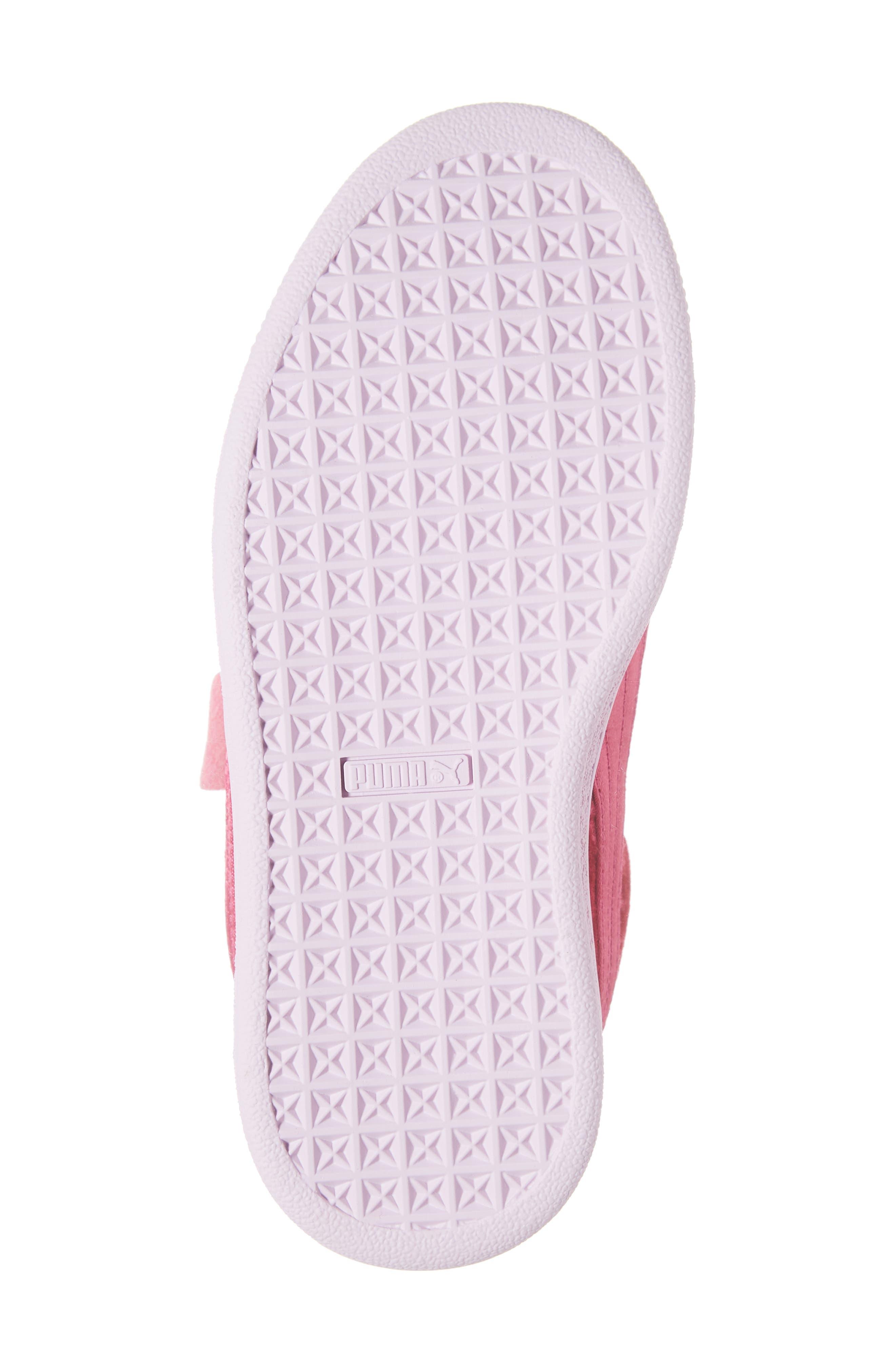 Basket Heart Sneaker,                             Alternate thumbnail 6, color,                             BEETROOT PURPLE-PUMA SILVER