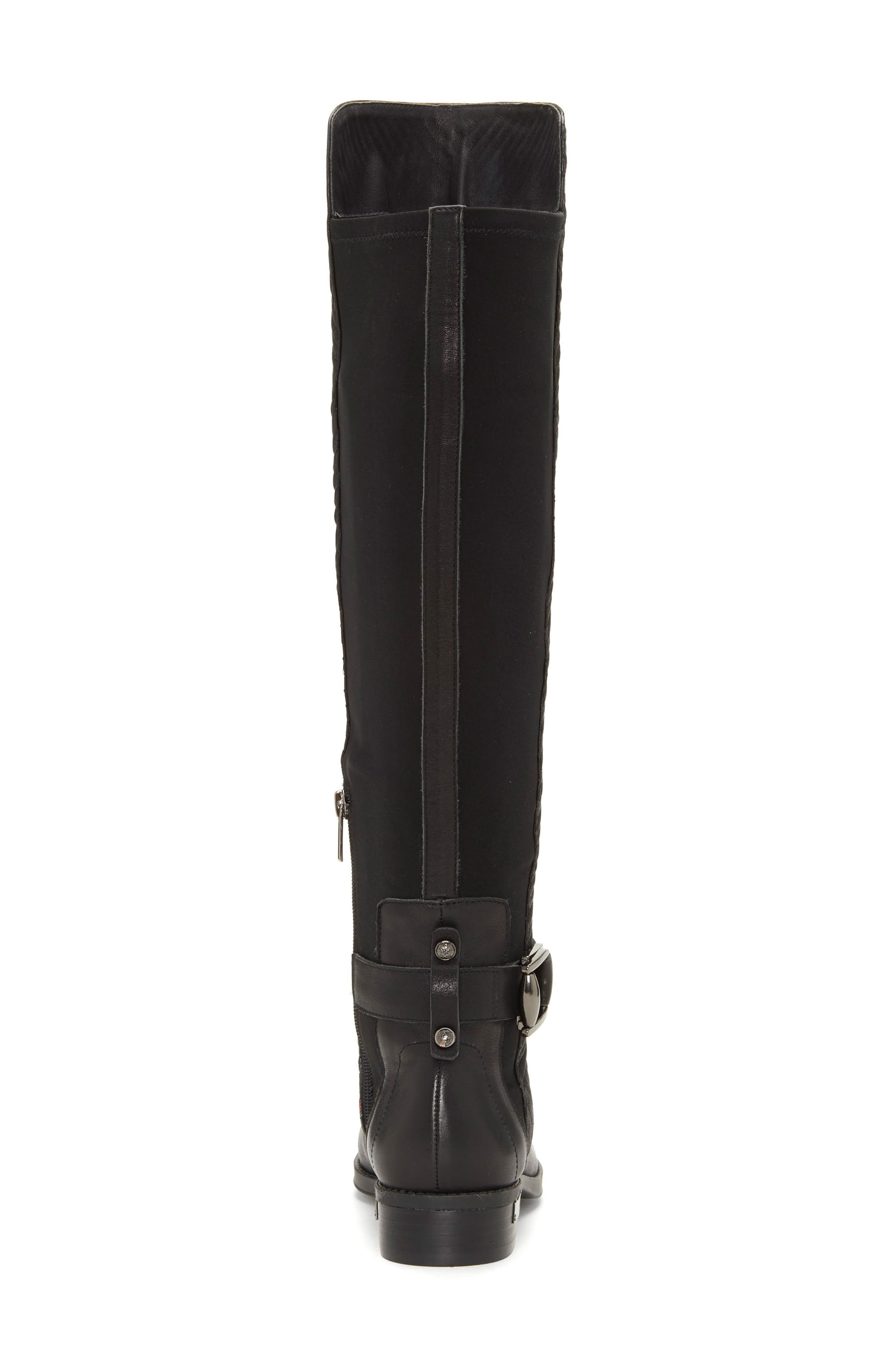 Pordalia Over-the-Knee Boot,                             Alternate thumbnail 7, color,                             BLACK LEATHER