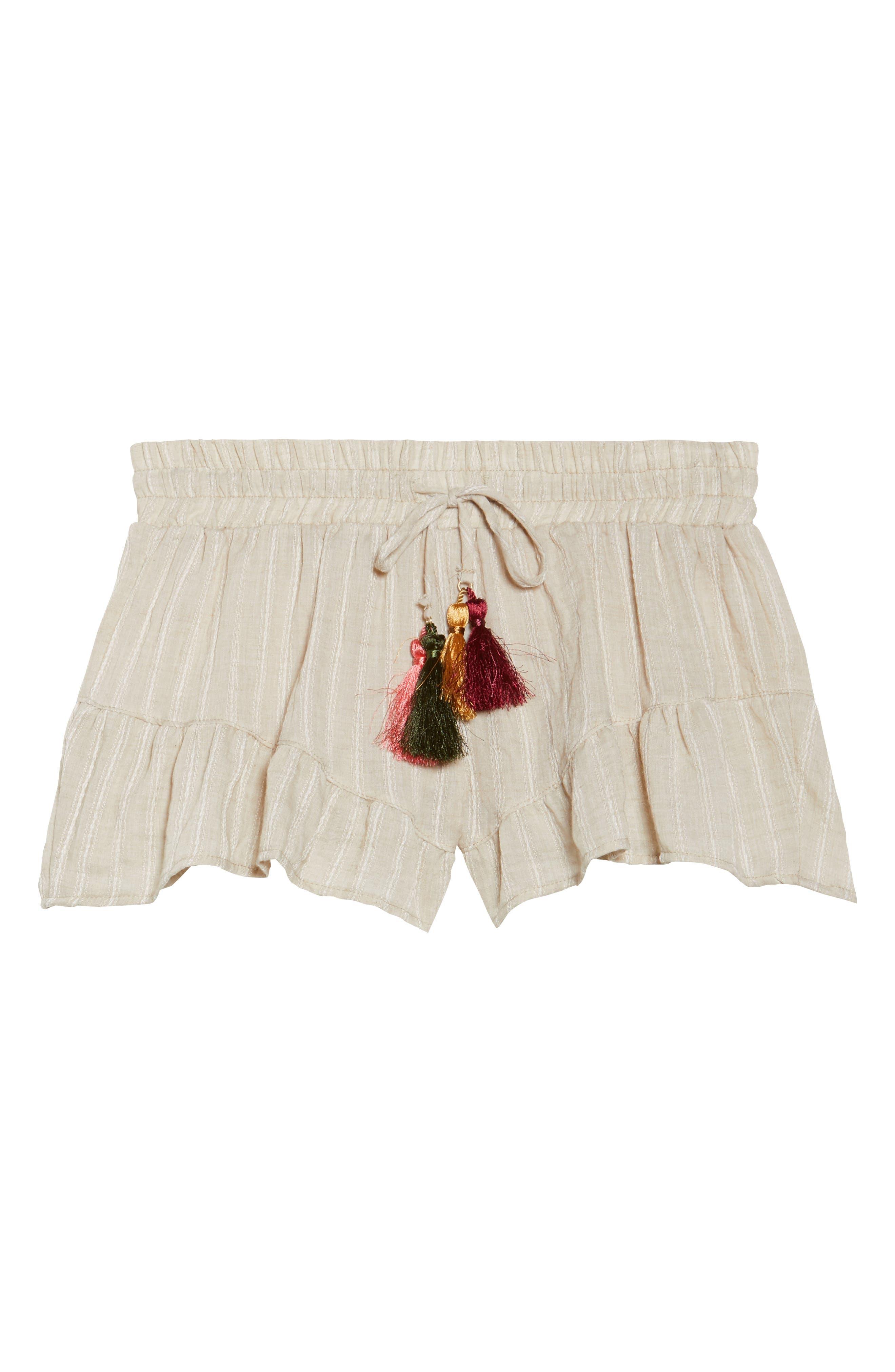 Ruffle Cover-Up Shorts,                             Alternate thumbnail 6, color,                             250
