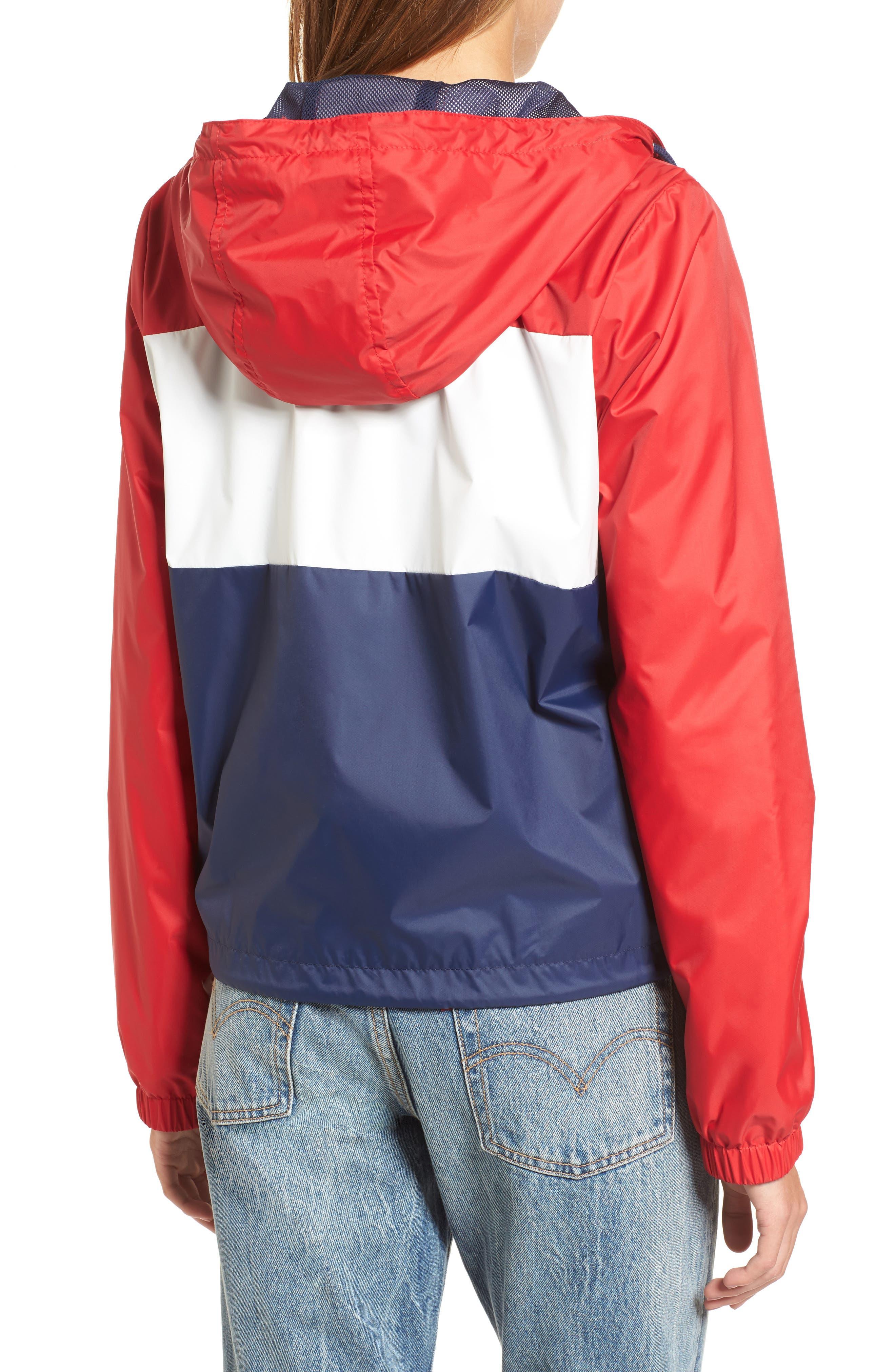 Retro Hooded Coach's Jacket,                             Alternate thumbnail 9, color,