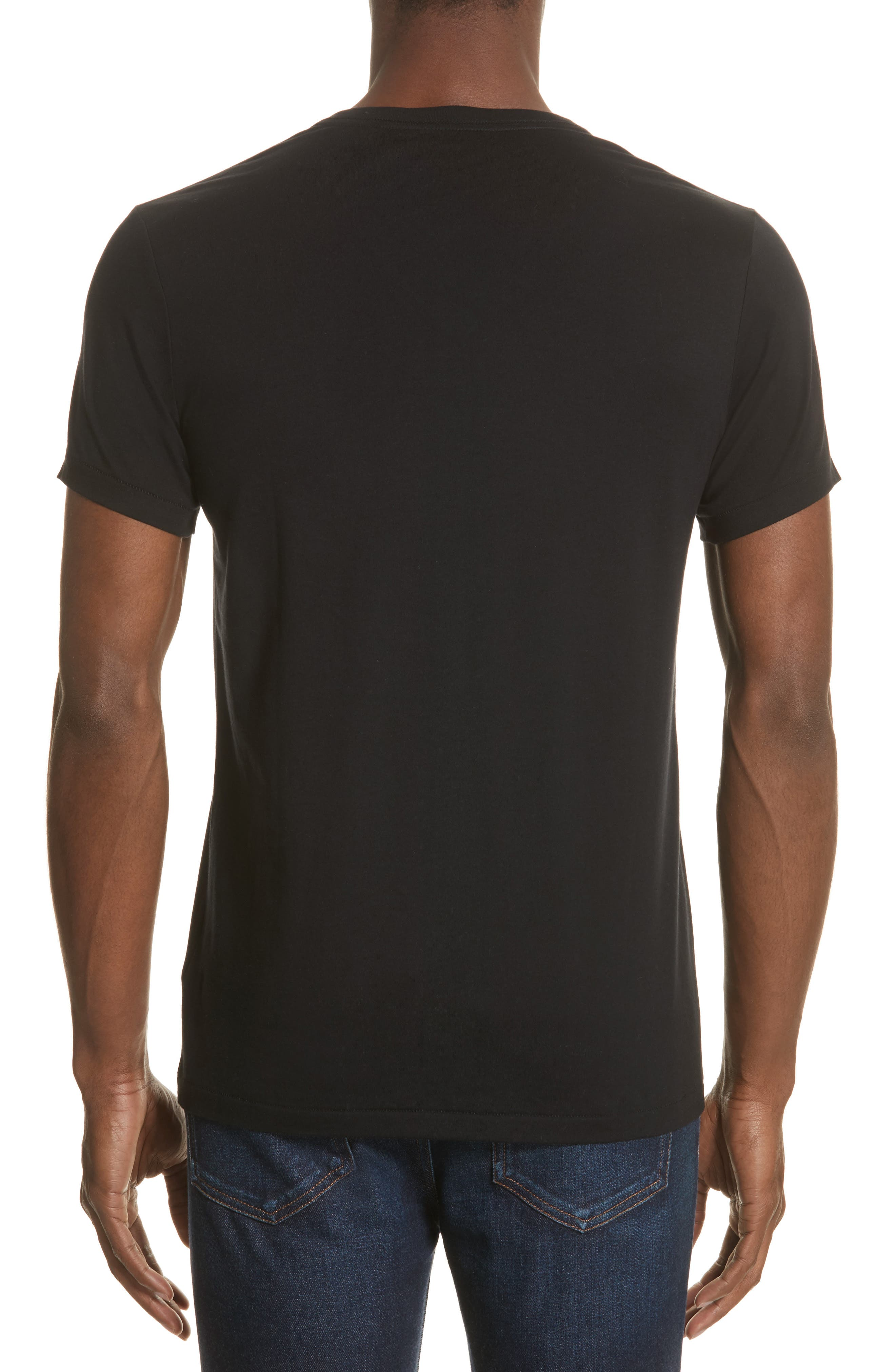 Jadforth V-Neck T-Shirt,                             Alternate thumbnail 2, color,                             BLACK