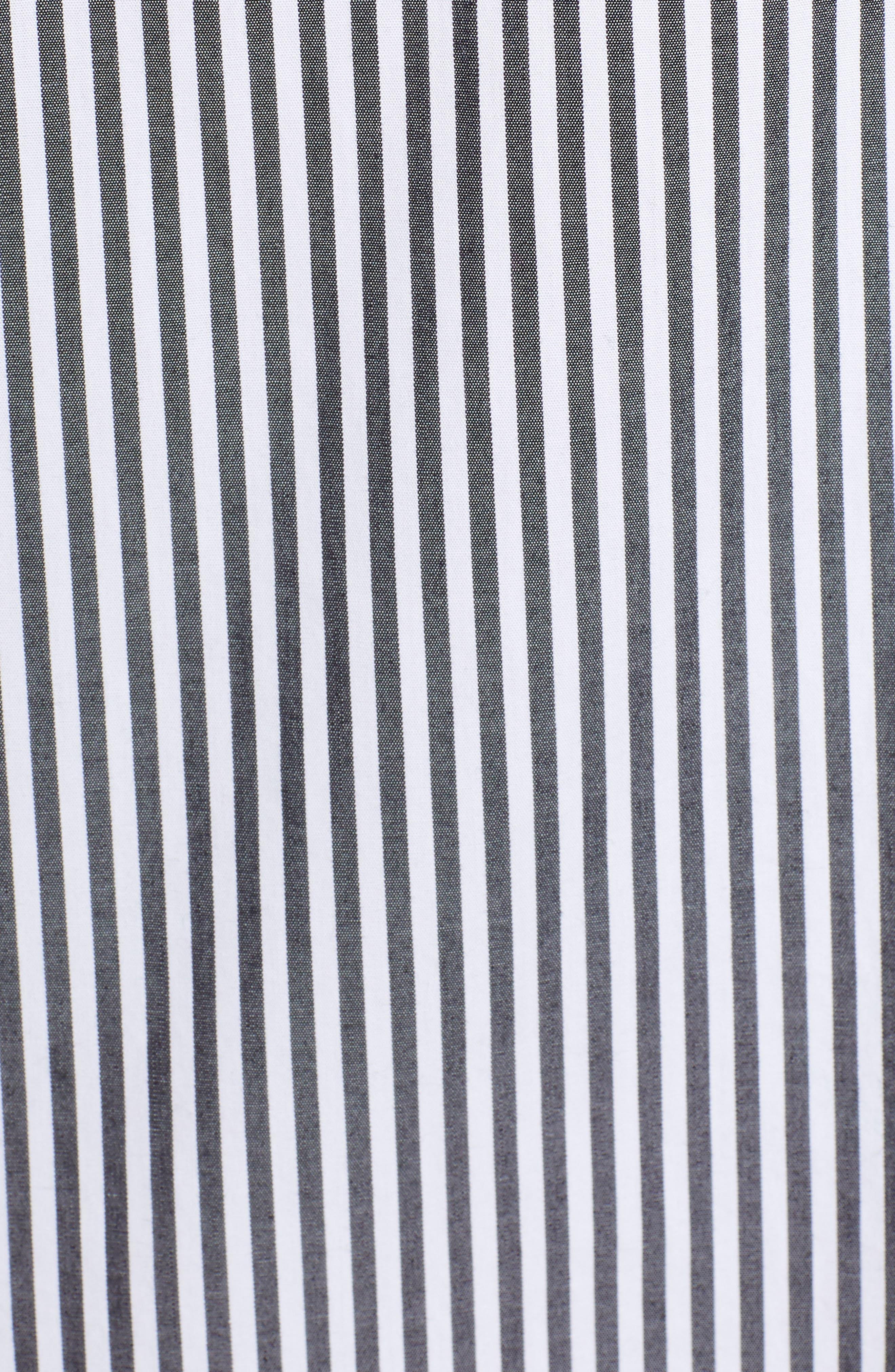 Stripe Utility Shirtdress,                             Alternate thumbnail 6, color,                             002