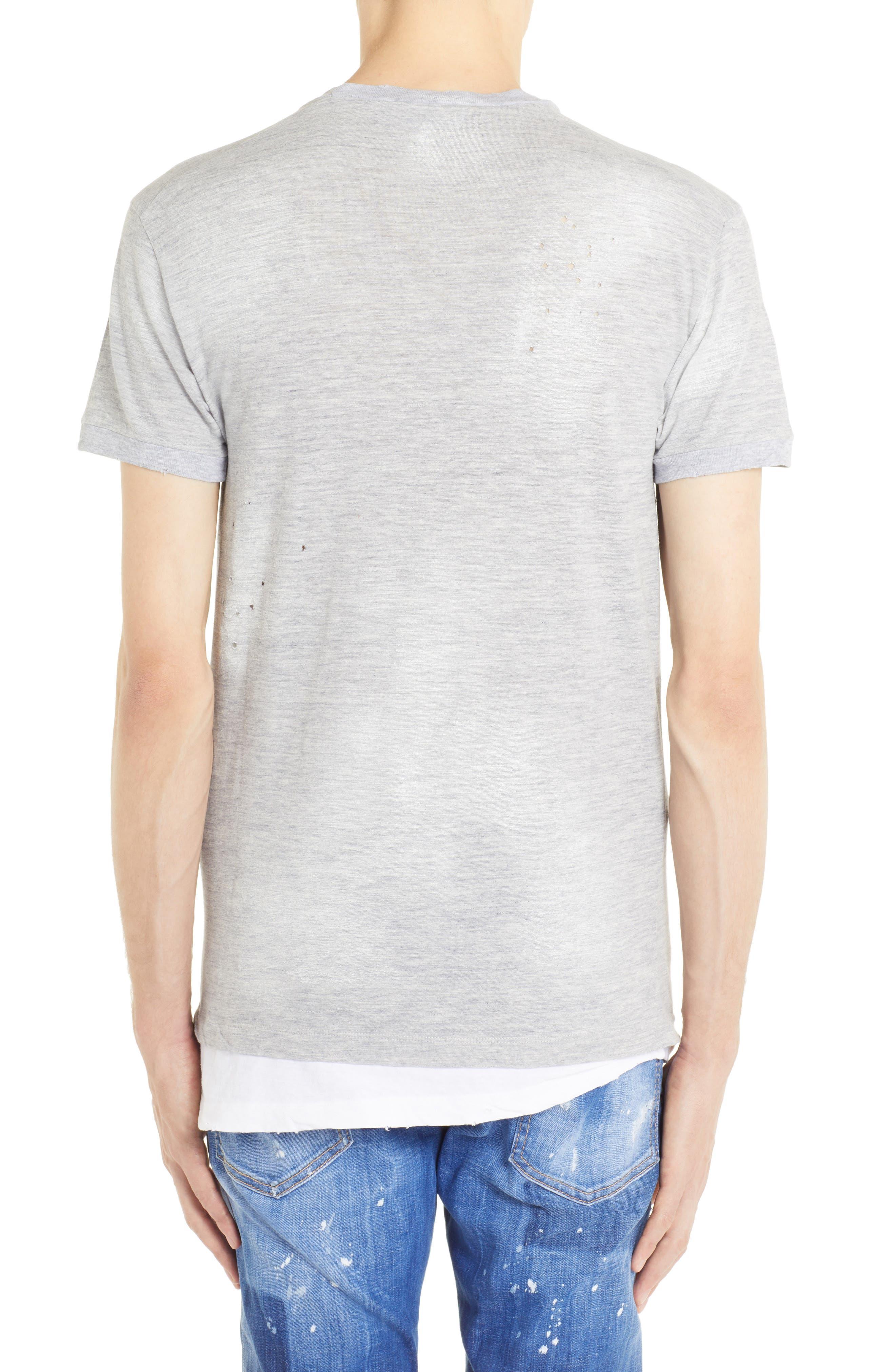 Longline Logo Graphic T-Shirt,                             Alternate thumbnail 2, color,                             GREY