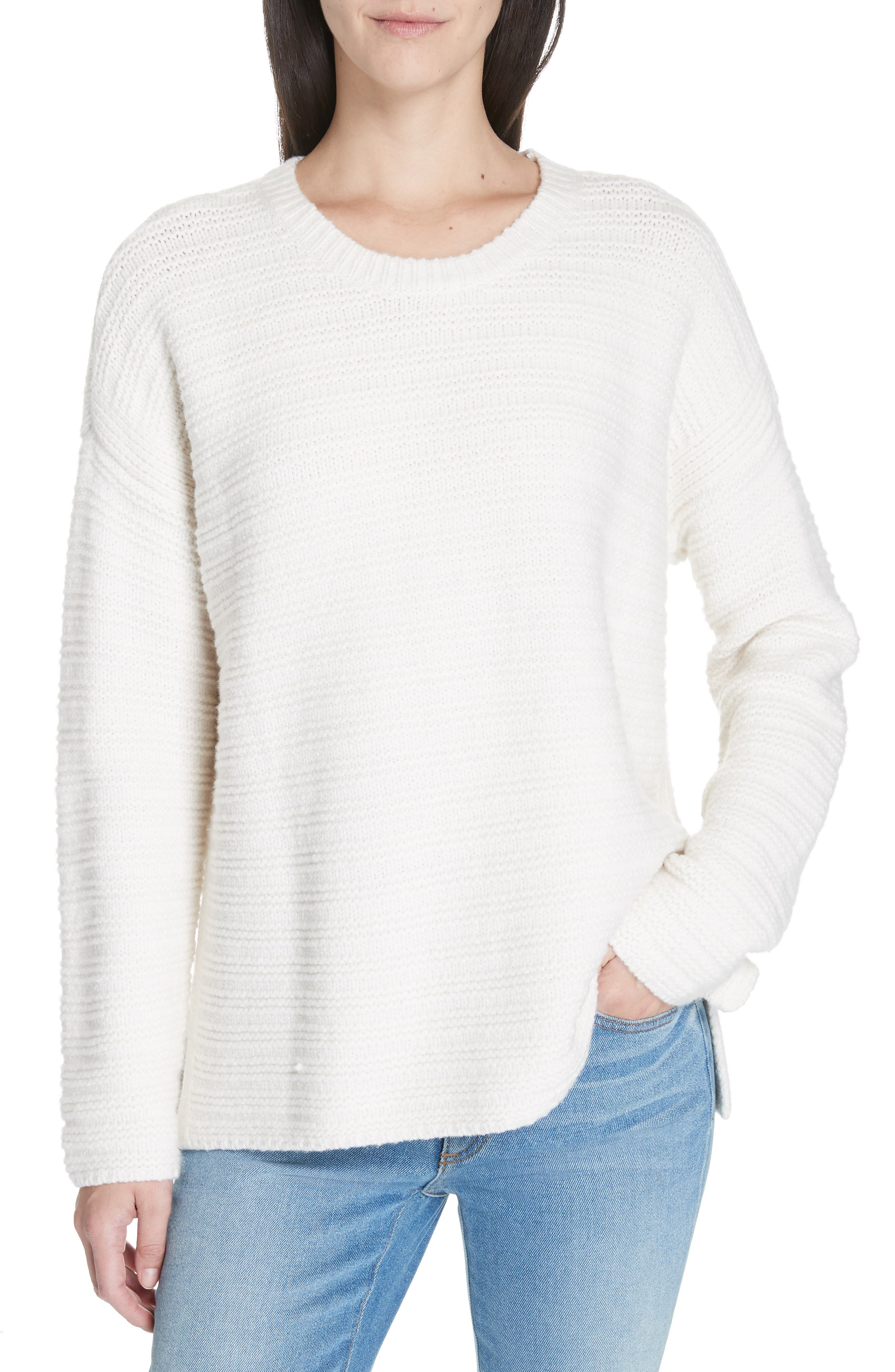 Eileen Fisher Wool Blend Pullover Sweater, Ivory