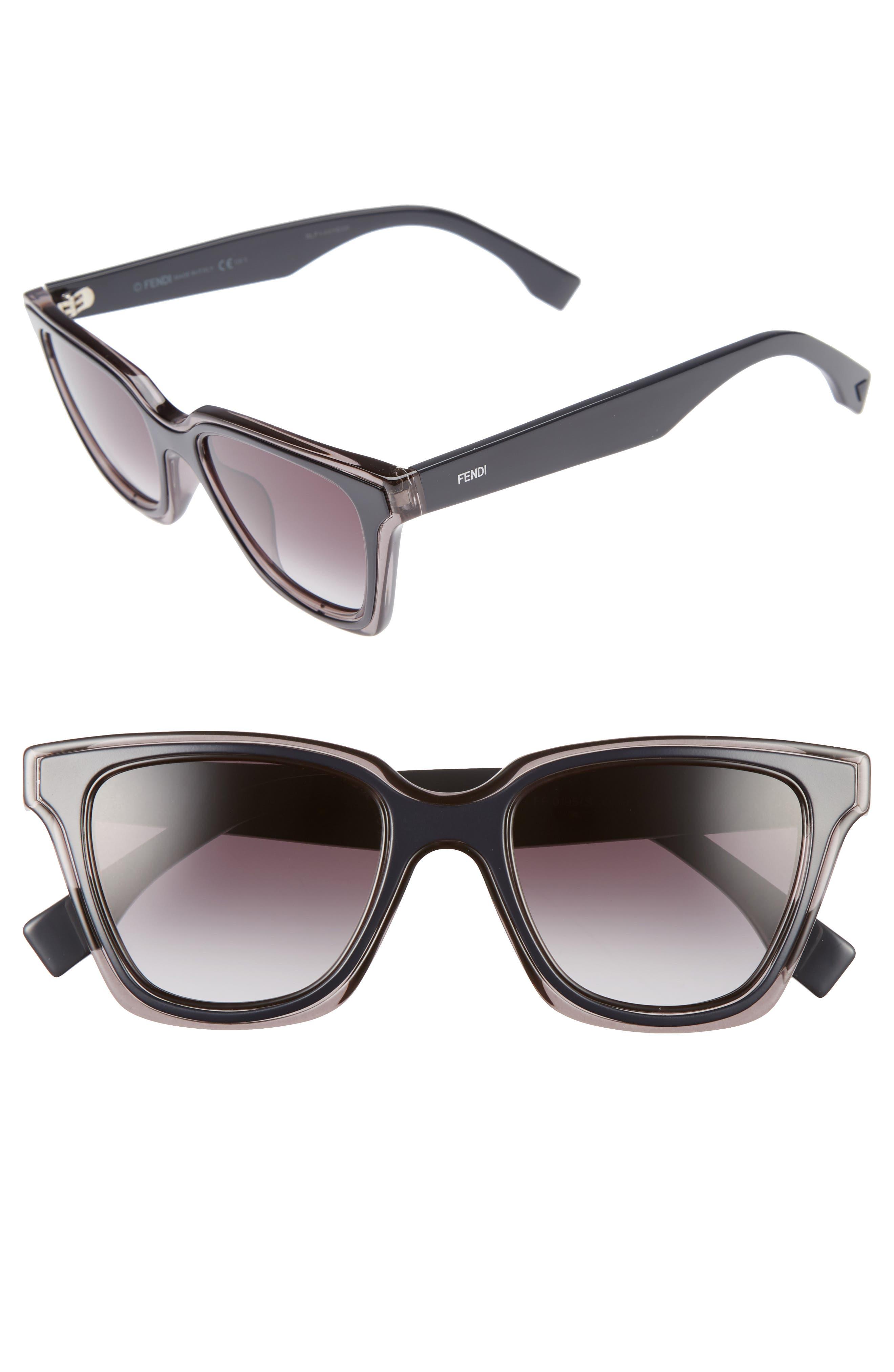 Be You 50mm Gradient Sunglasses,                             Alternate thumbnail 2, color,                             020