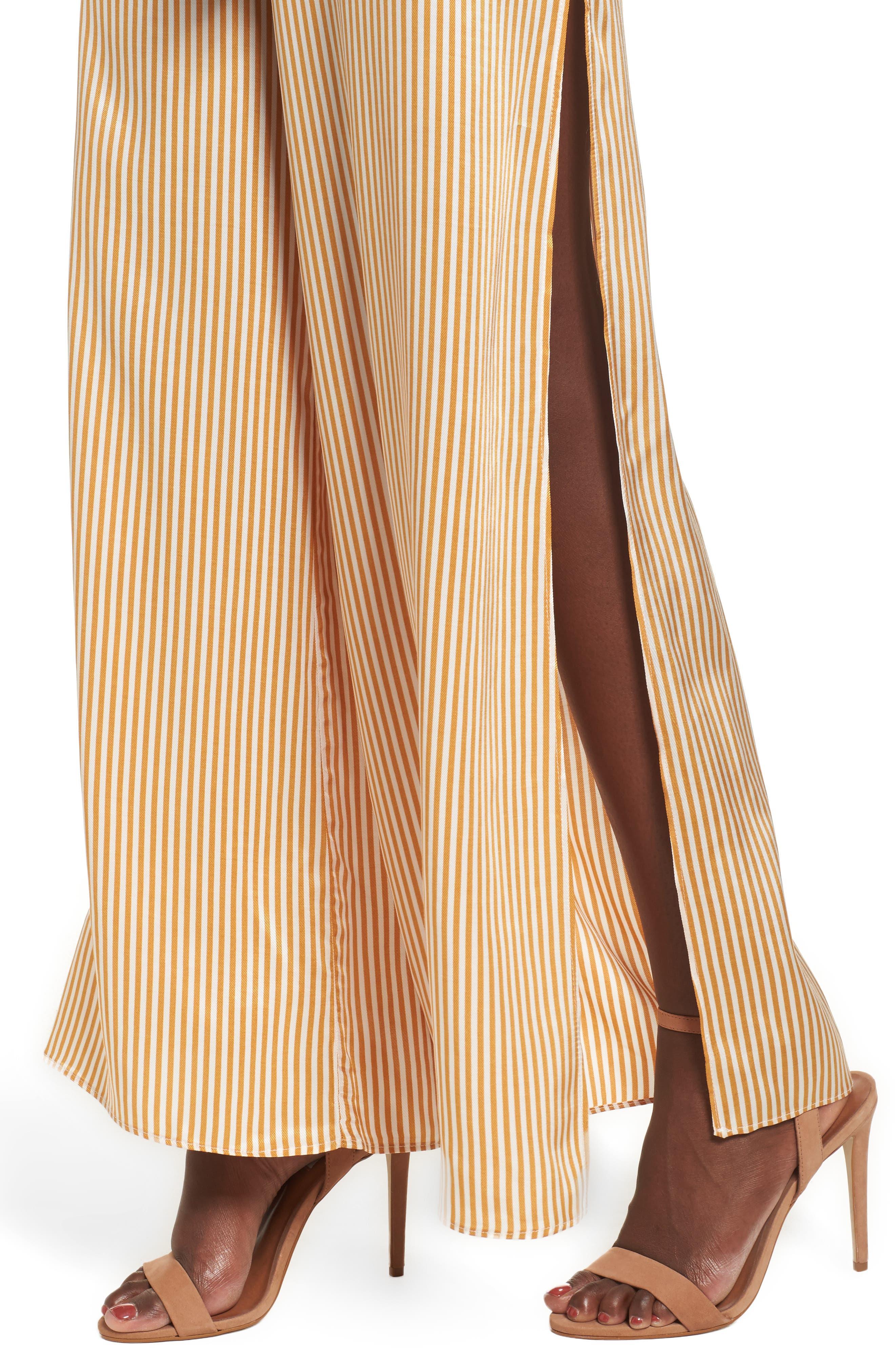 Peyton Wide Leg Halter Jumpsuit,                             Alternate thumbnail 4, color,