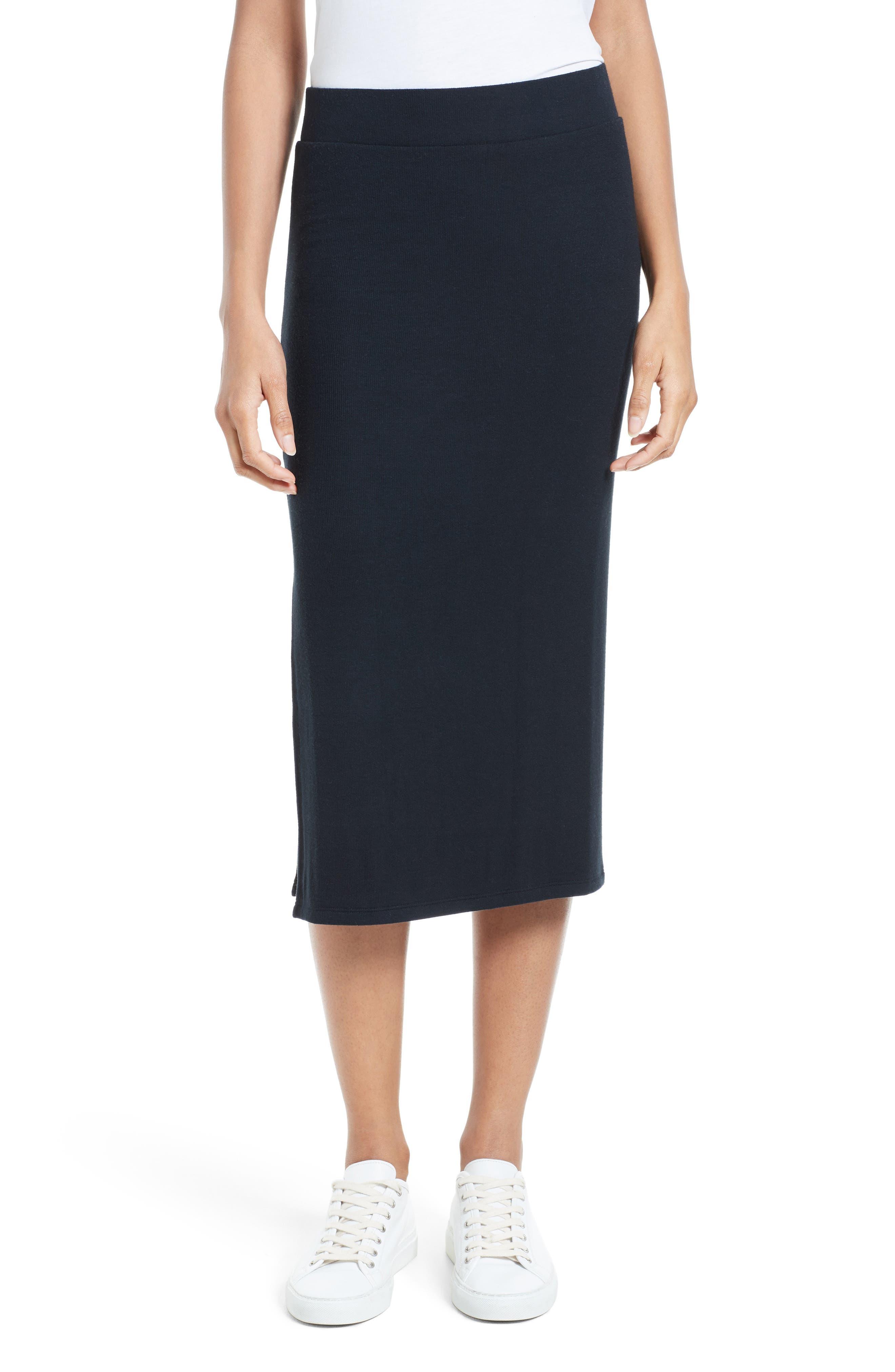 Side Slit Tube Skirt,                             Main thumbnail 1, color,                             001