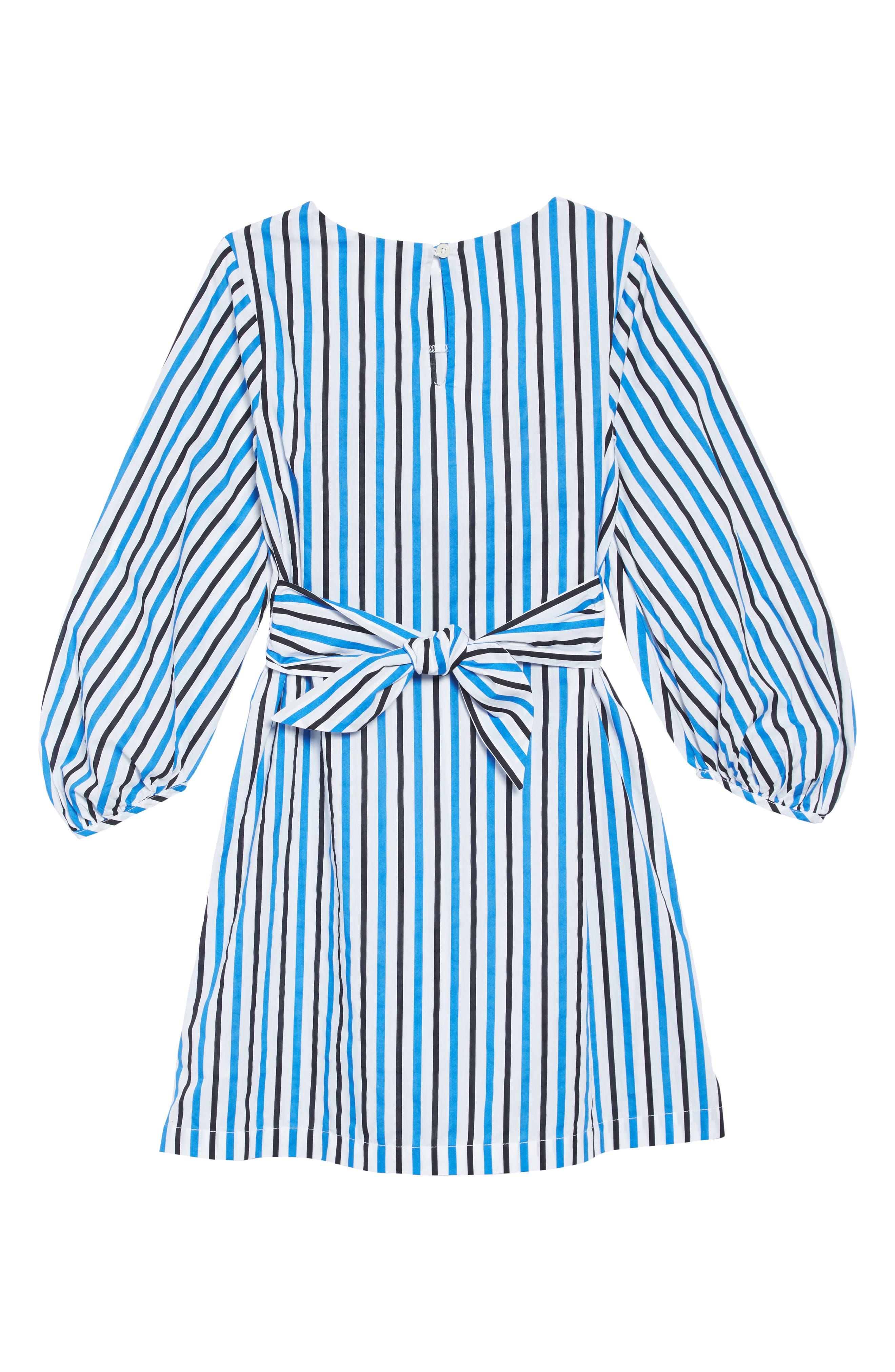 Stripe Tie Dress,                             Alternate thumbnail 2, color,                             100