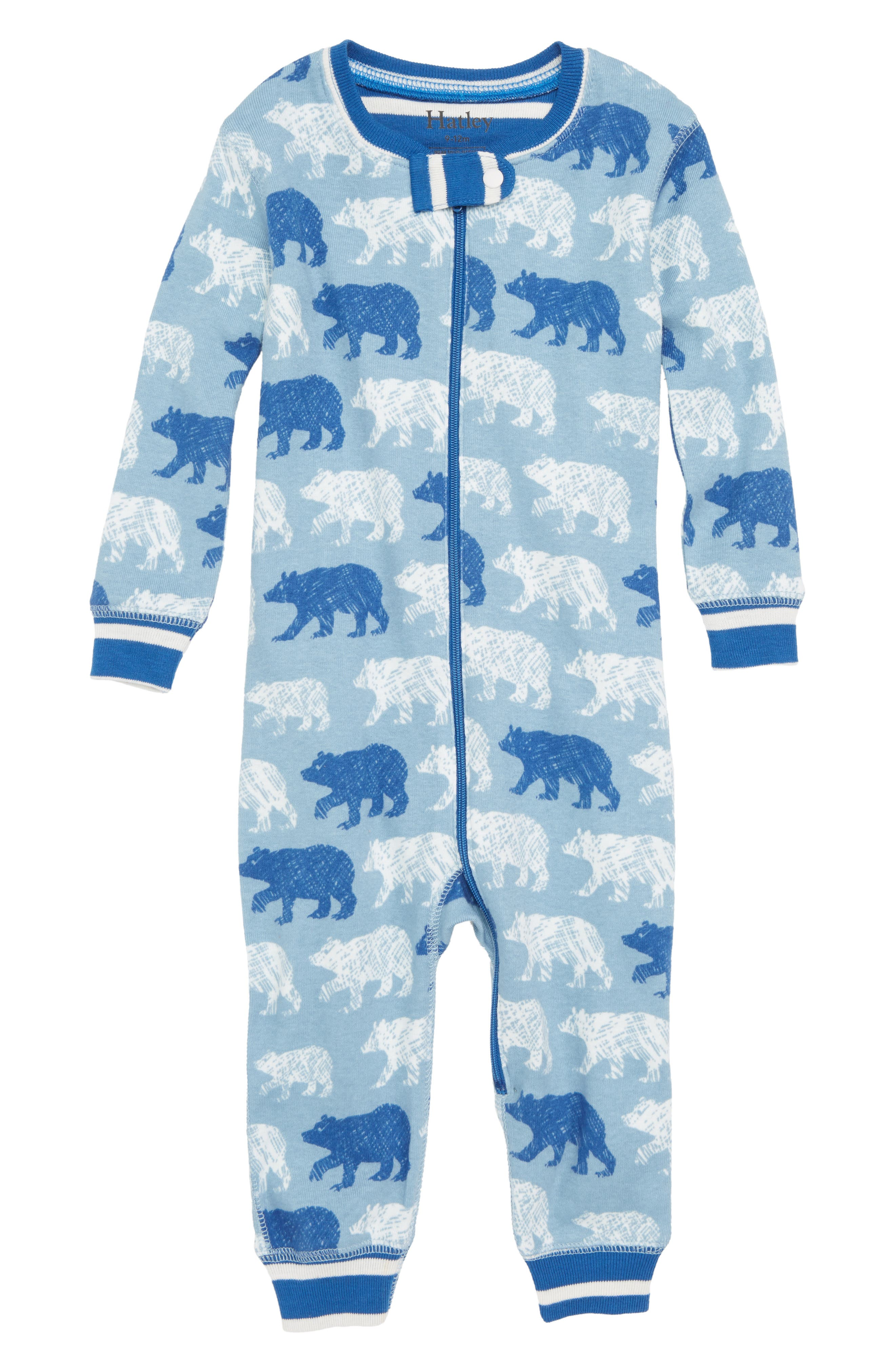 Organic Cotton Fitted One-Piece Pajamas,                             Main thumbnail 1, color,                             400
