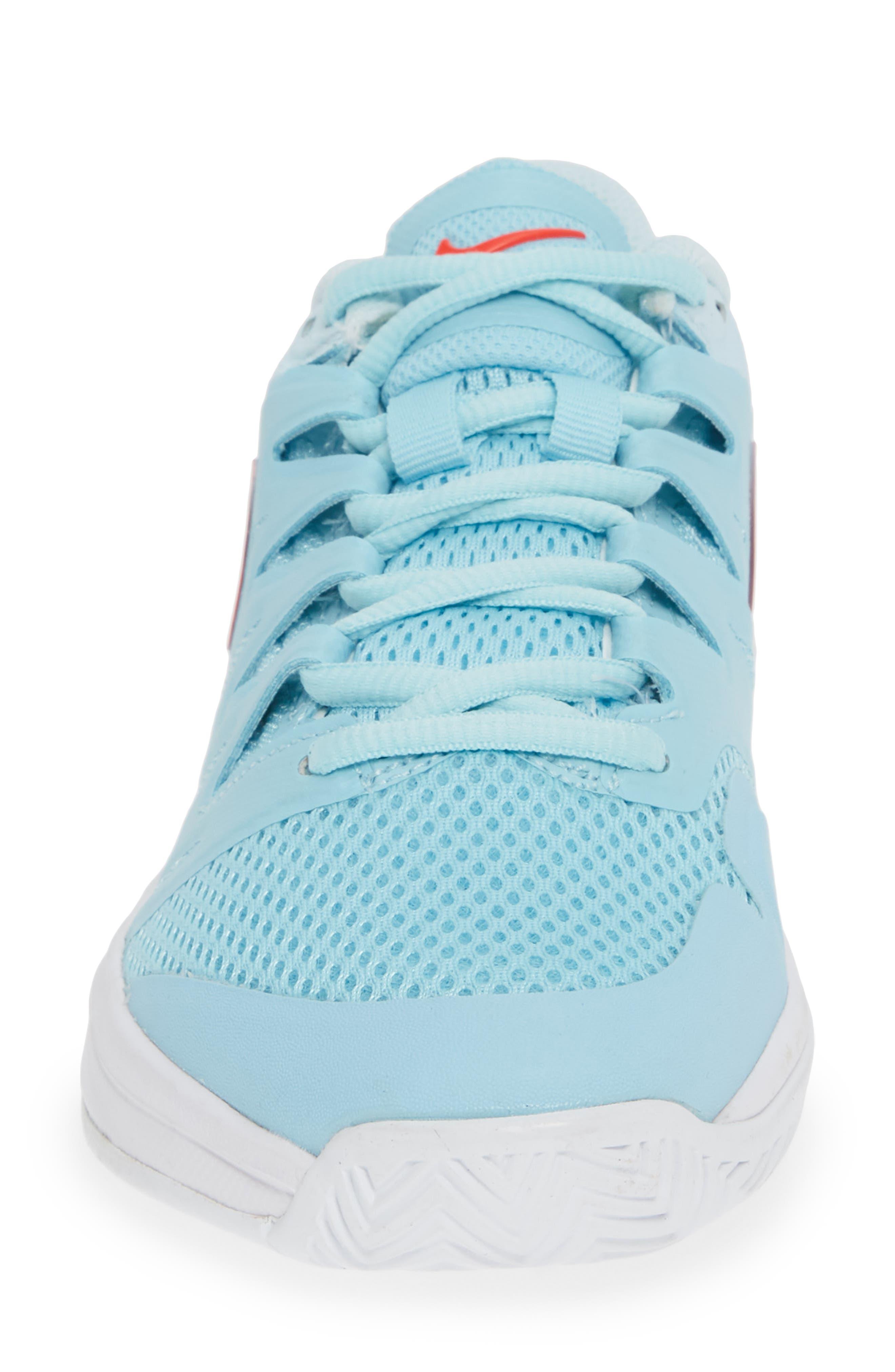 Air Zoom Prestige Tennis Shoe,                             Alternate thumbnail 4, color,                             BLUE/ BRIGHT CRIMSON-TOPAZ