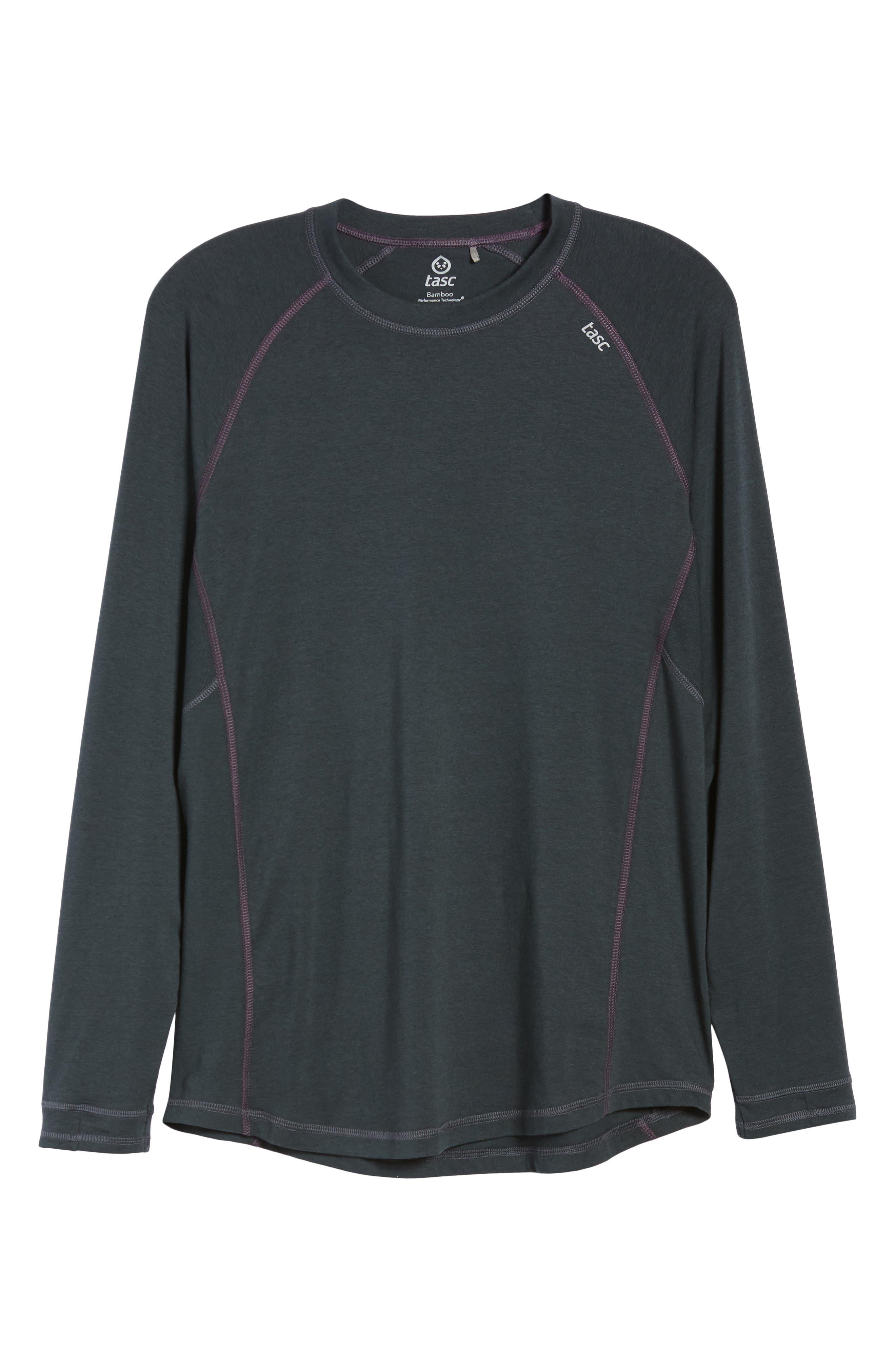 Charge II Long Sleeve T-Shirt,                             Alternate thumbnail 6, color,                             GUNMETAL/ ECLIPSE