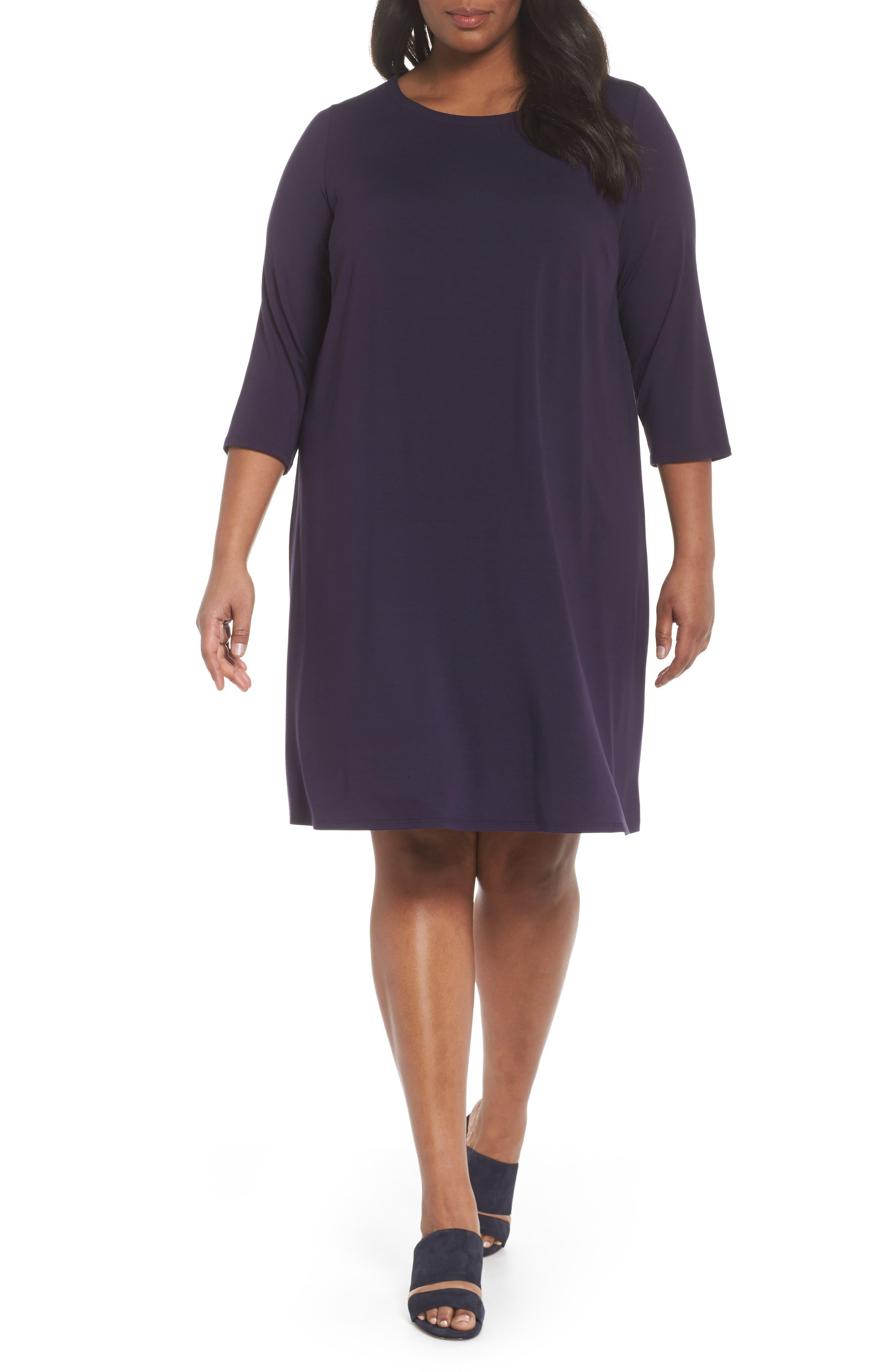 Jewel Neck Tie Back Dress,                             Main thumbnail 4, color,