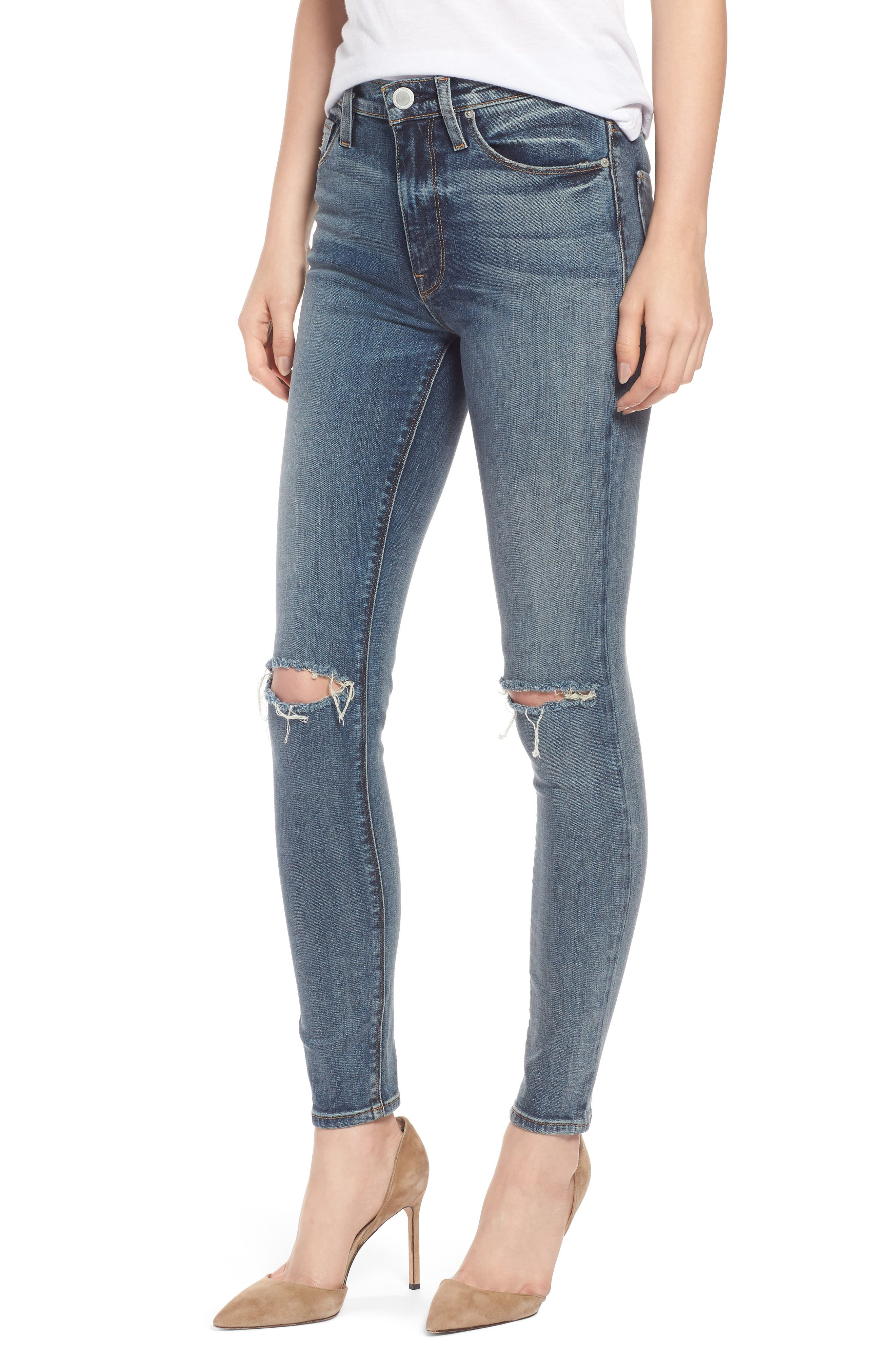 Barbara High Waist Super Skinny Jeans,                         Main,                         color, 420