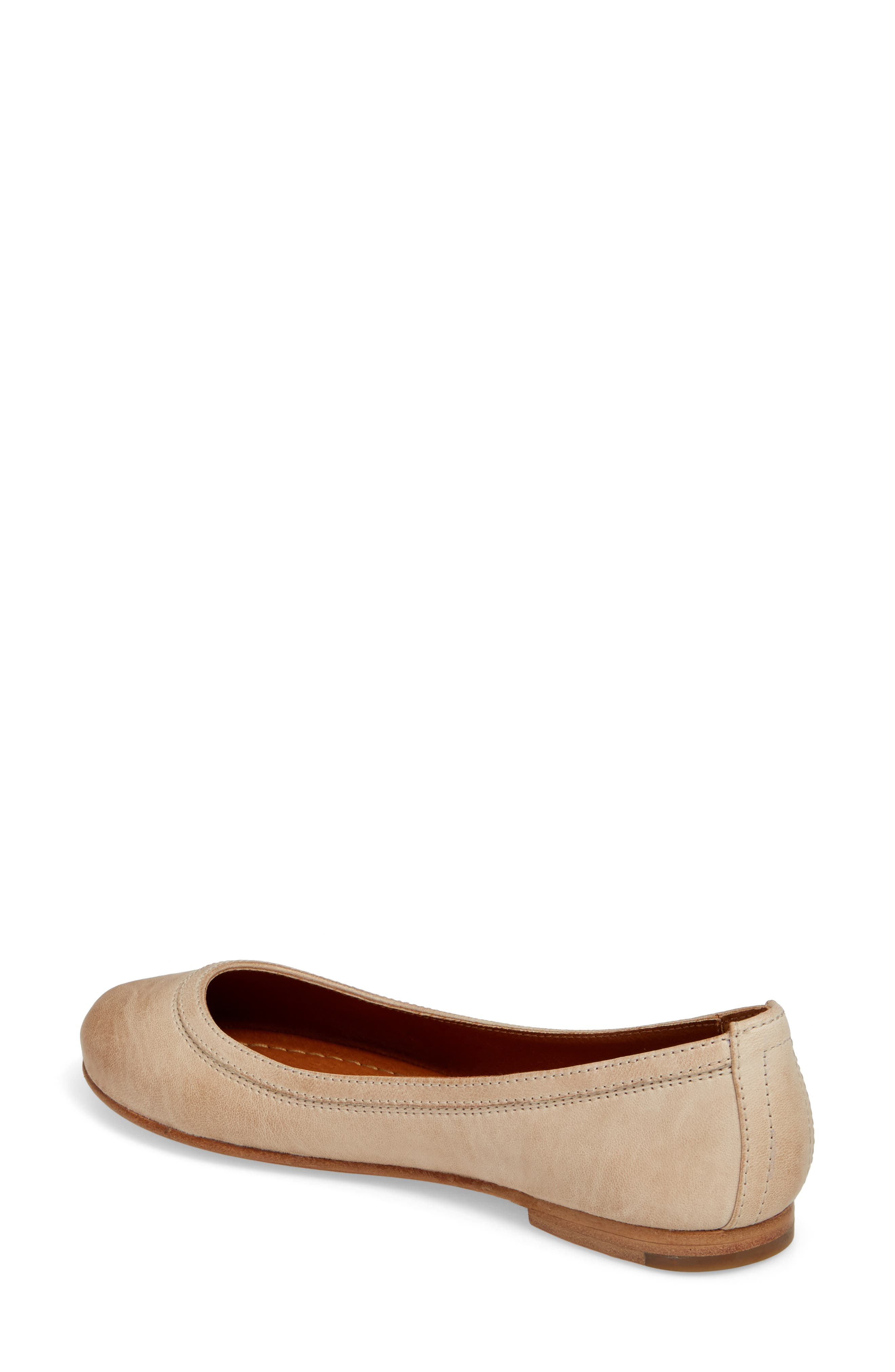 'Carson' Ballet Flat,                             Alternate thumbnail 3, color,                             CREAM LEATHER