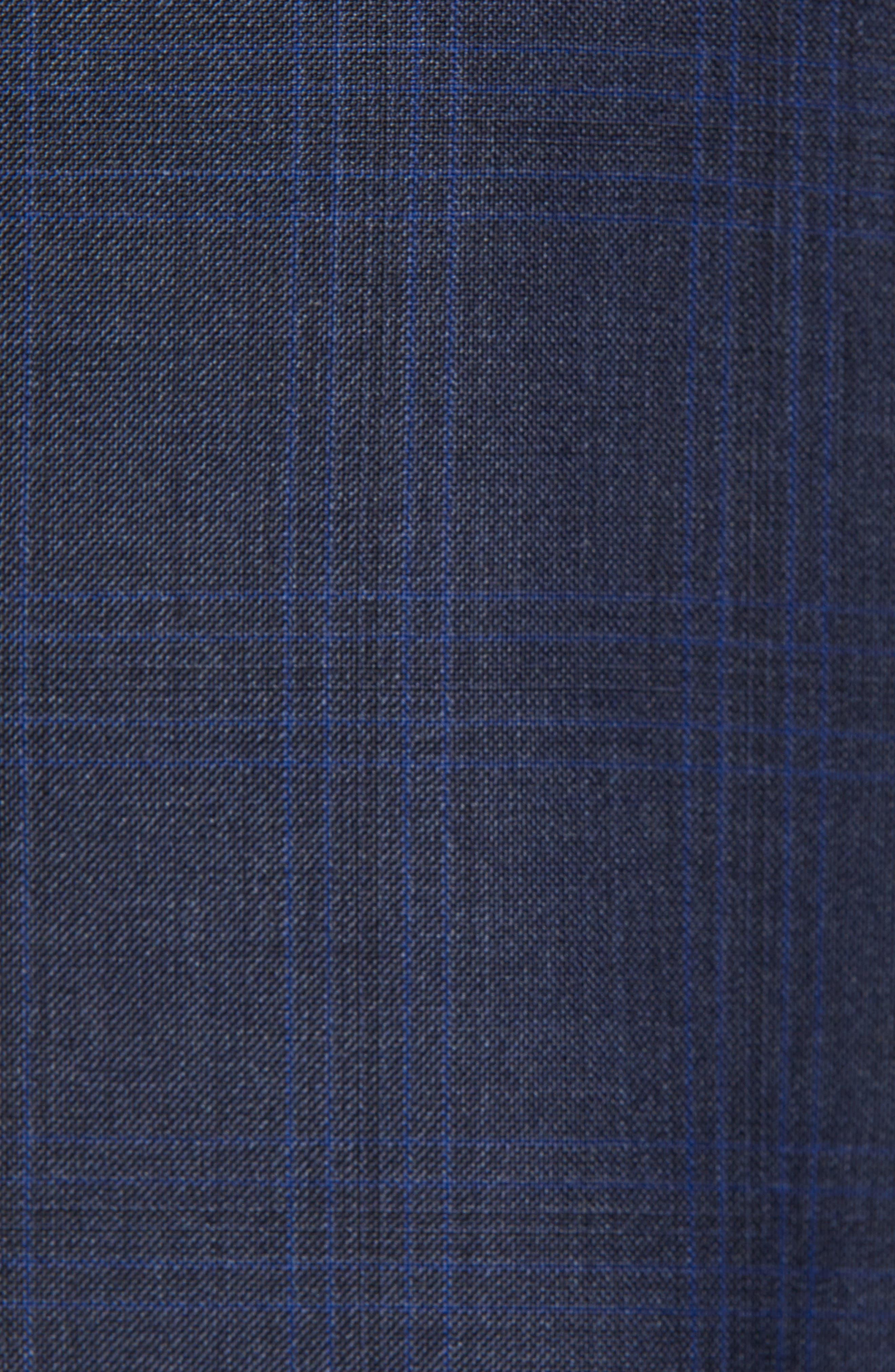 Flynn Classic Fit Plaid Wool Suit,                             Alternate thumbnail 7, color,                             NAVY