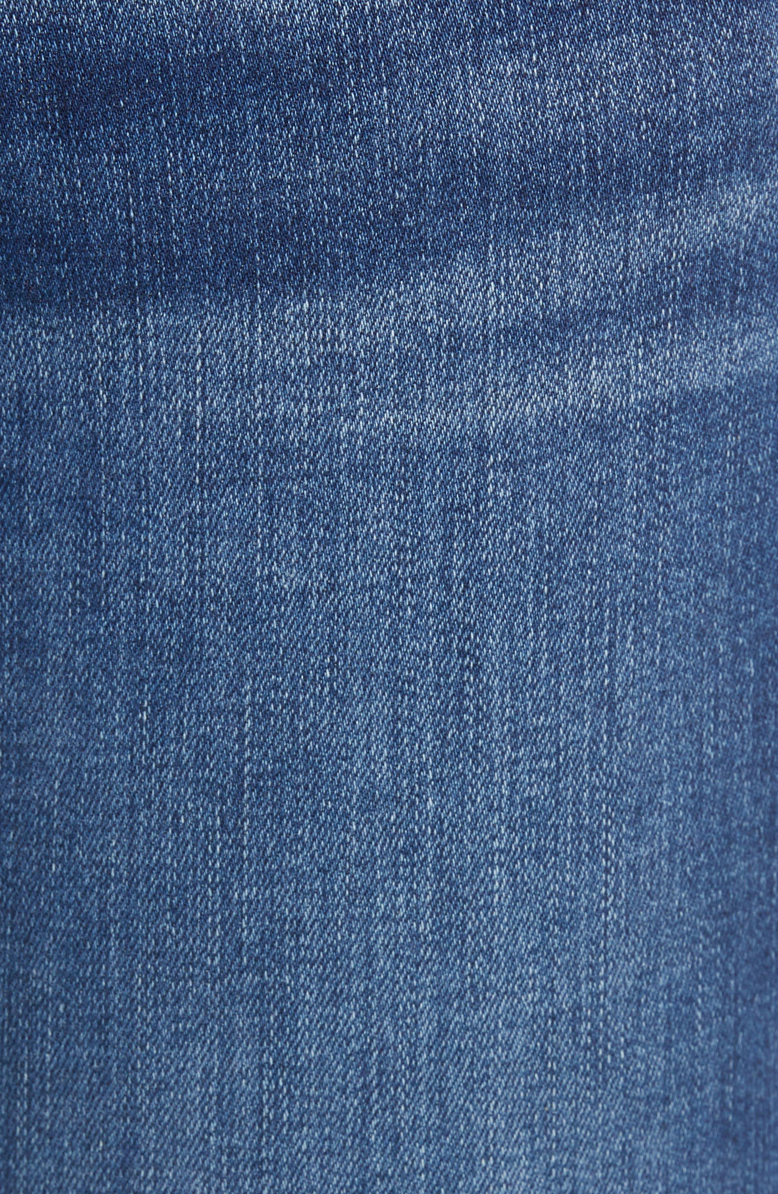 Curvy Skinny Jeans,                             Alternate thumbnail 6, color,                             INDIGO MEDIAN