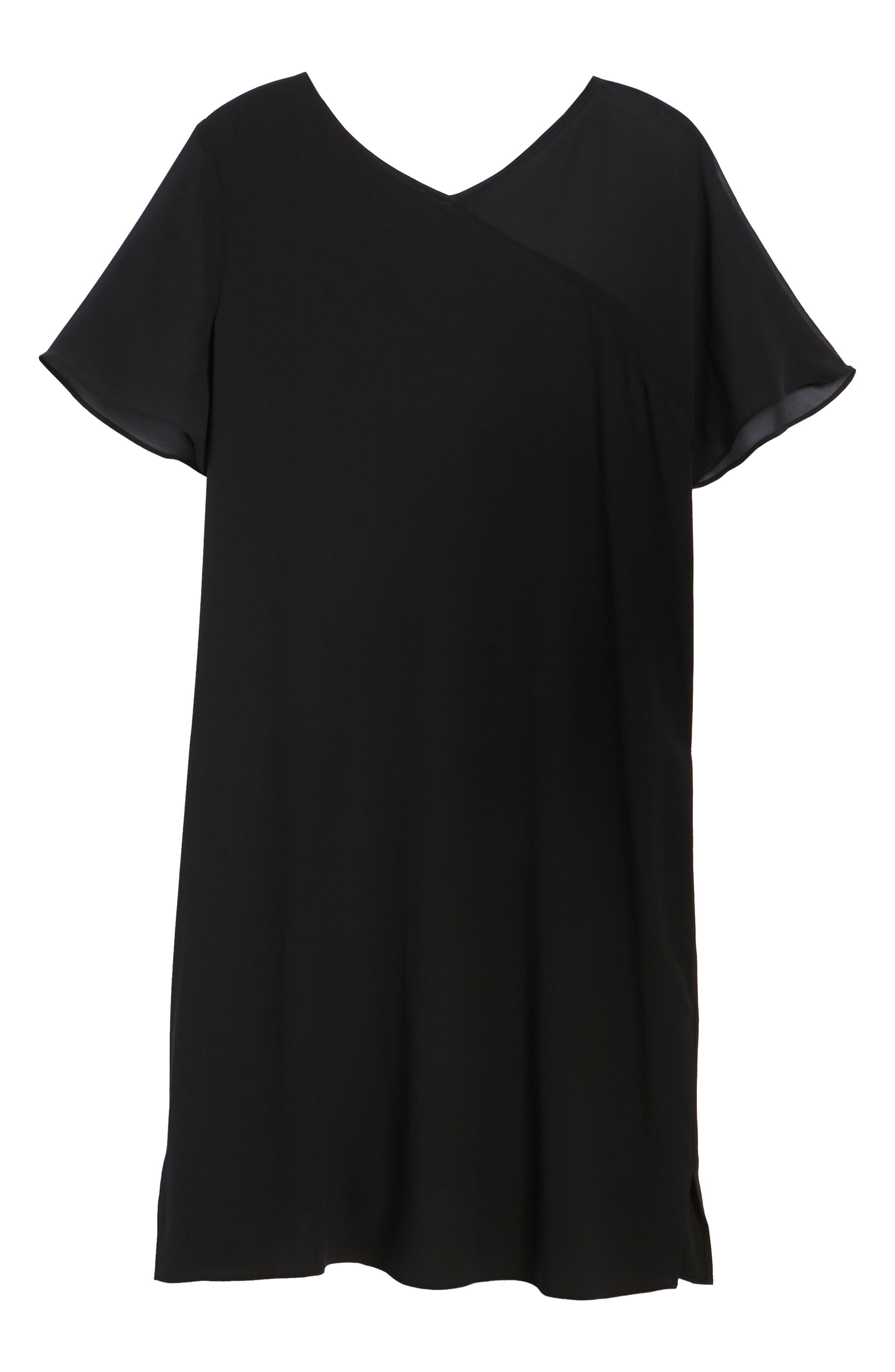 Silk Shift Dress,                             Alternate thumbnail 7, color,
