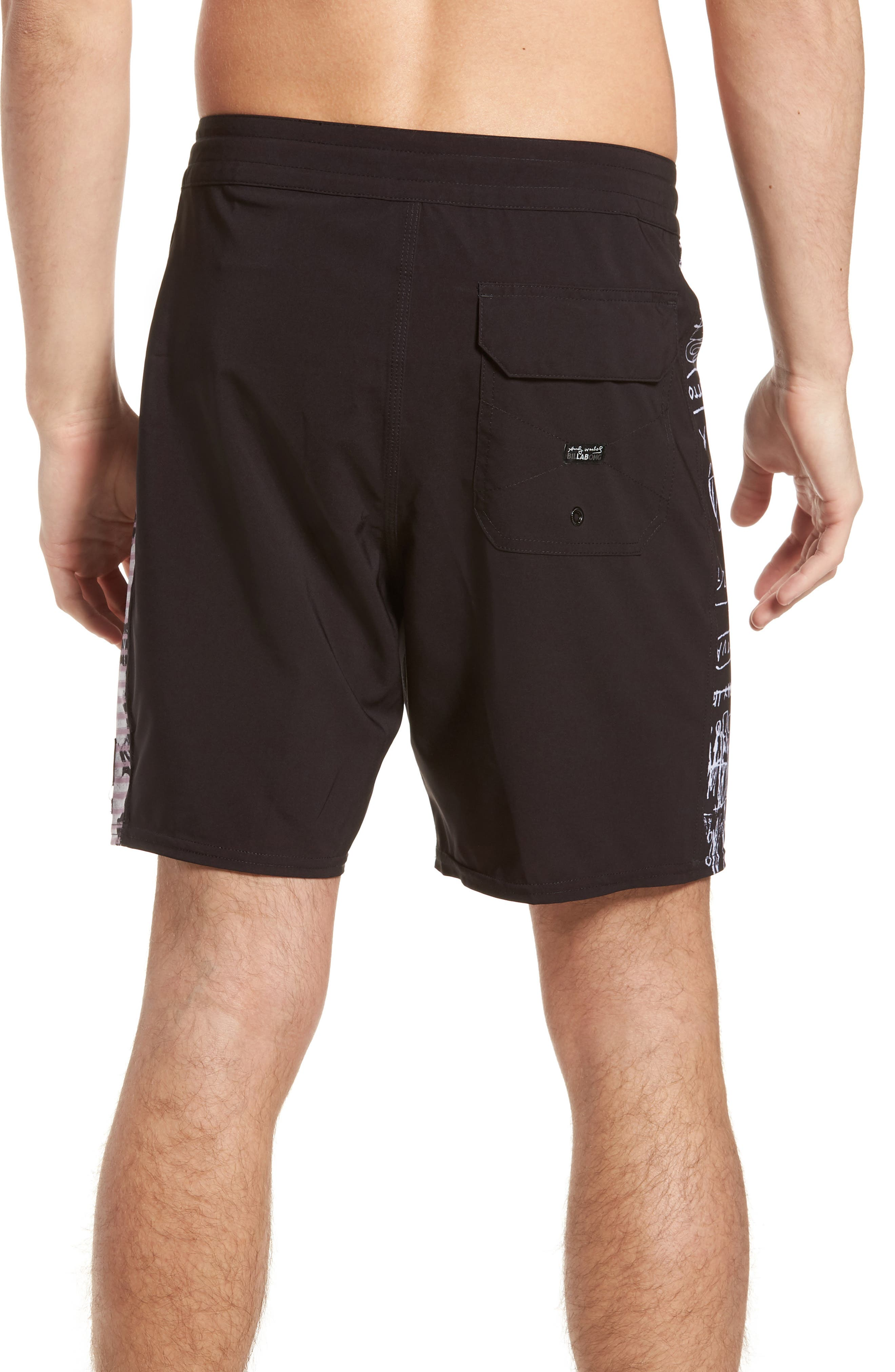 Holy Are You Board Shorts,                             Alternate thumbnail 2, color,                             BLACK
