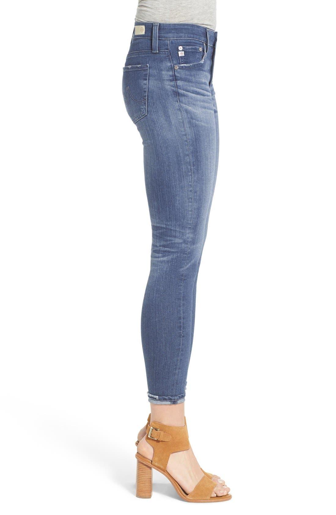 AG,                             'The Farrah' High Rise Crop Skinny Jeans,                             Alternate thumbnail 2, color,                             400