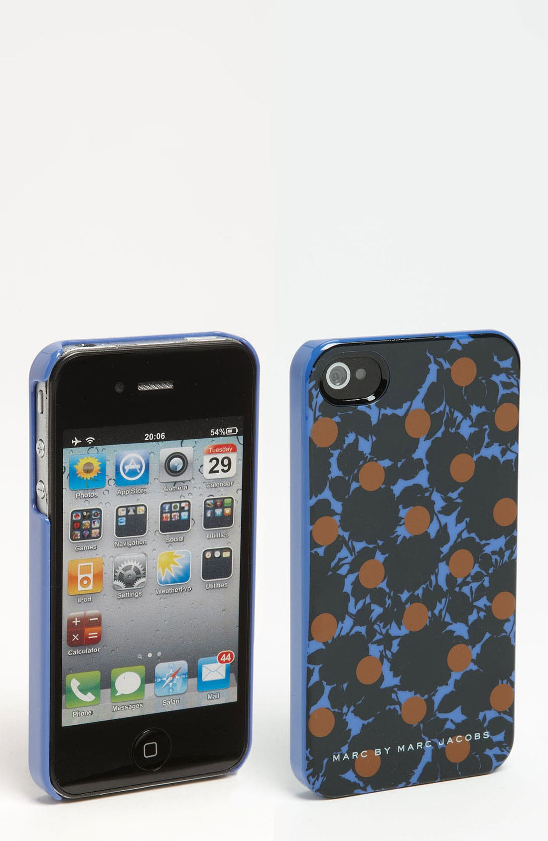 MARC BY MARC JACOBS 'Clara Flower Dot' iPhone 4 & 4S Case,                             Main thumbnail 1, color,                             464