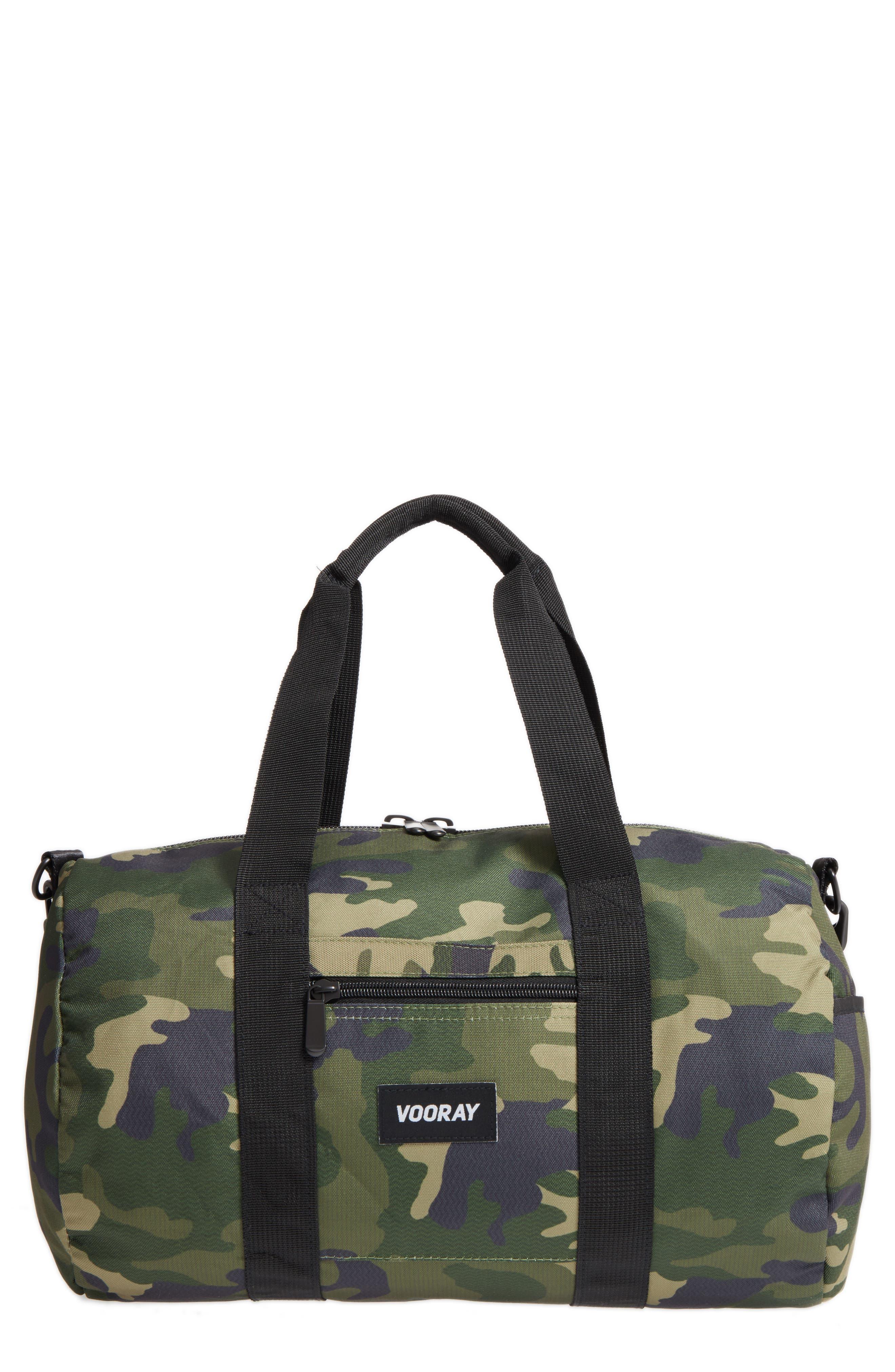 Roadie Small Duffel Bag,                         Main,                         color, GREEN CAMO