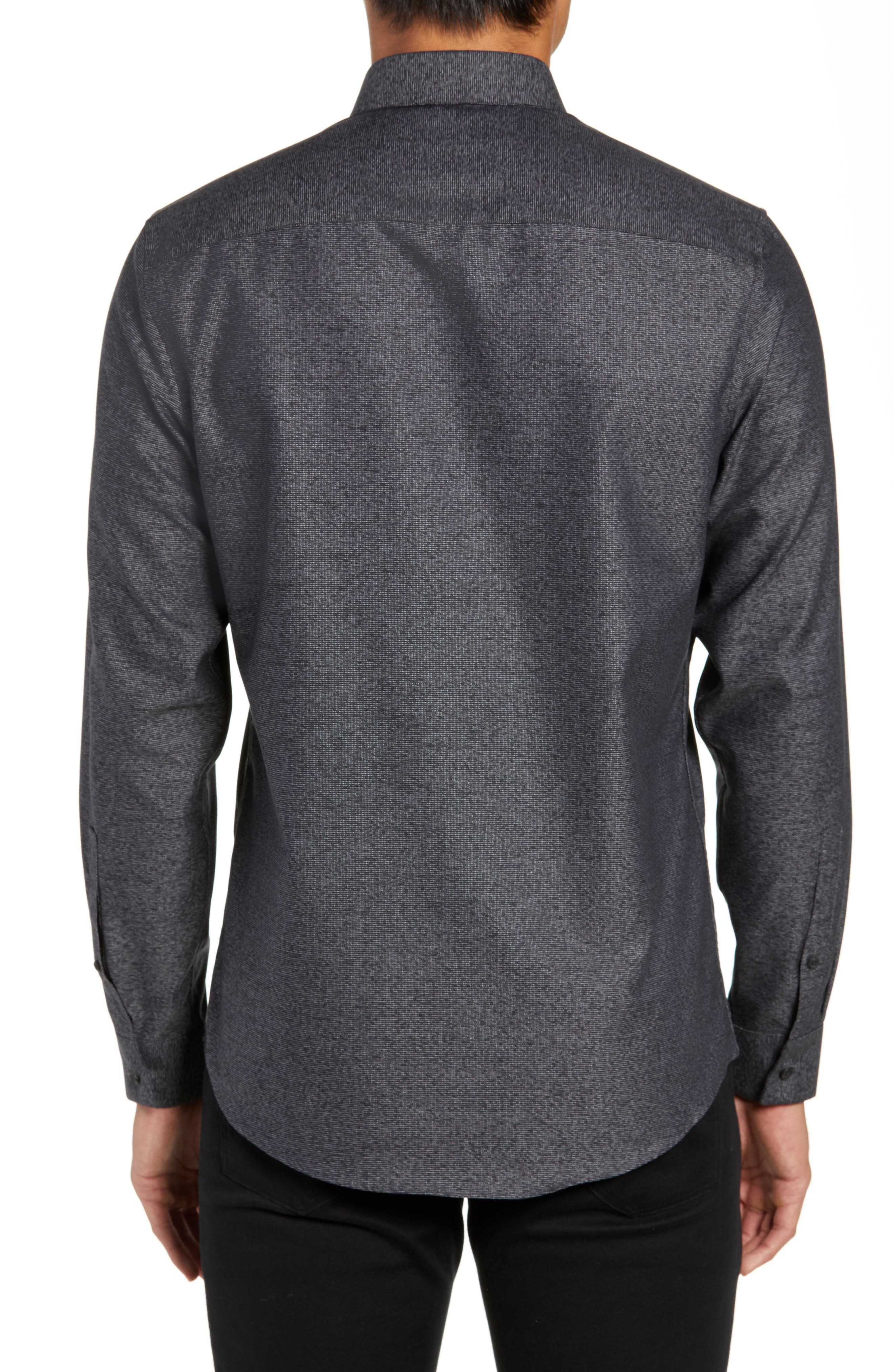 CALIBRATE,                             Slim Fit Non-Iron Textured Sport Shirt,                             Alternate thumbnail 3, color,                             001