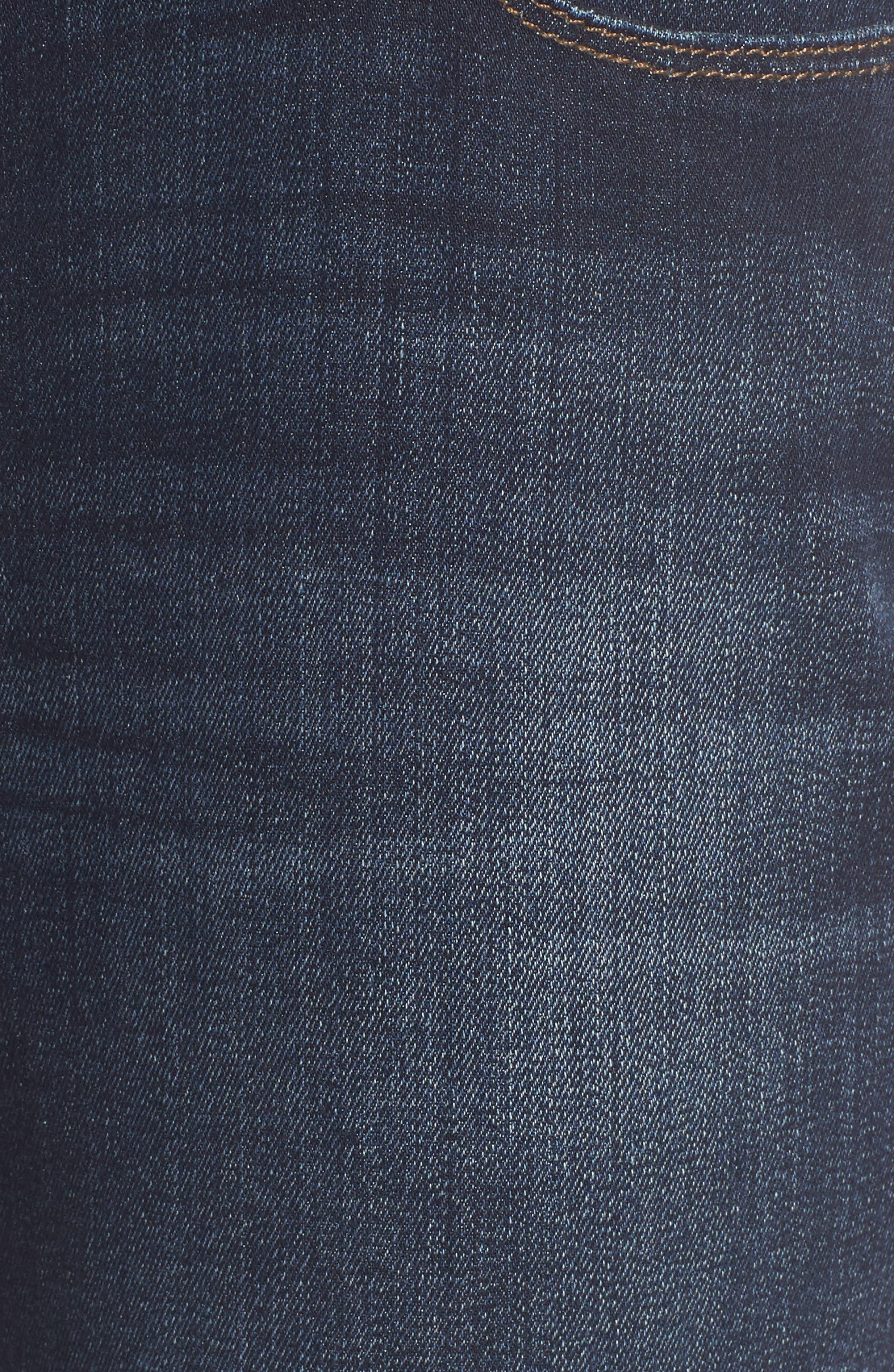 Ada Boyfriend Jeans,                             Alternate thumbnail 6, color,                             INDIGO BRUSHED