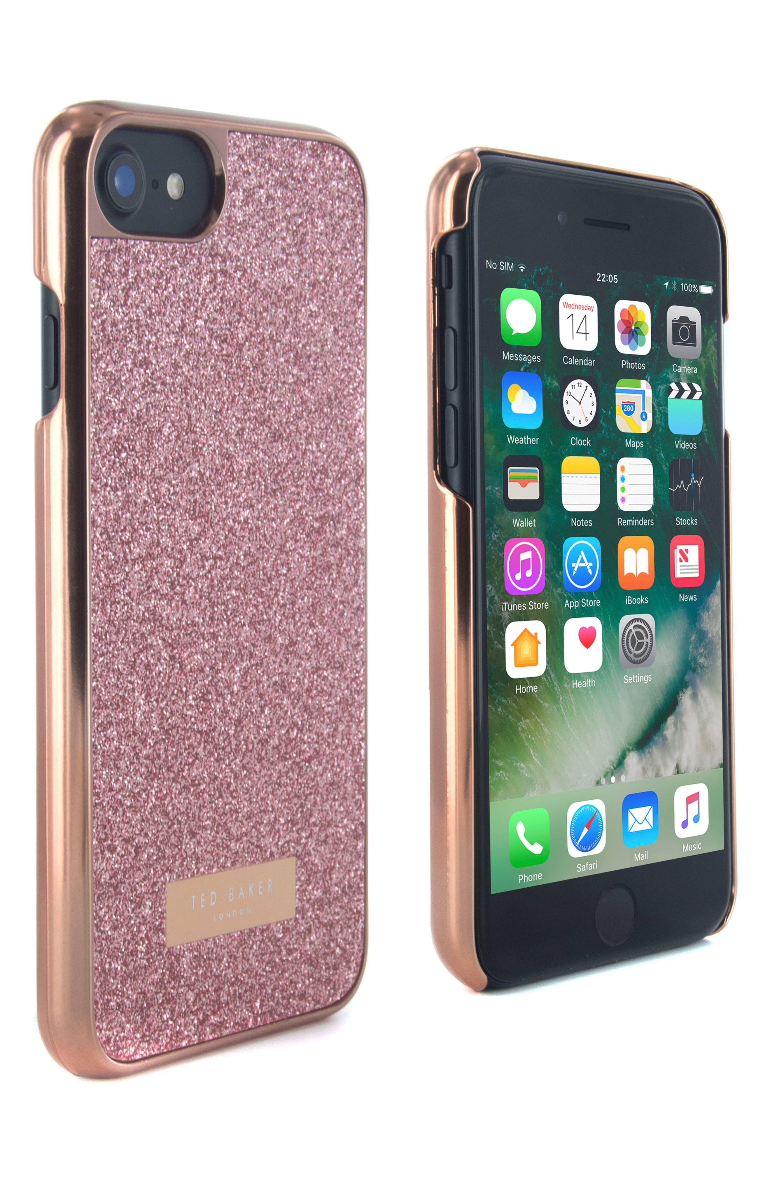 Sparkles iPhone 6/6s/7/8 & 6/6s/7/8 Plus Case,                             Main thumbnail 2, color,