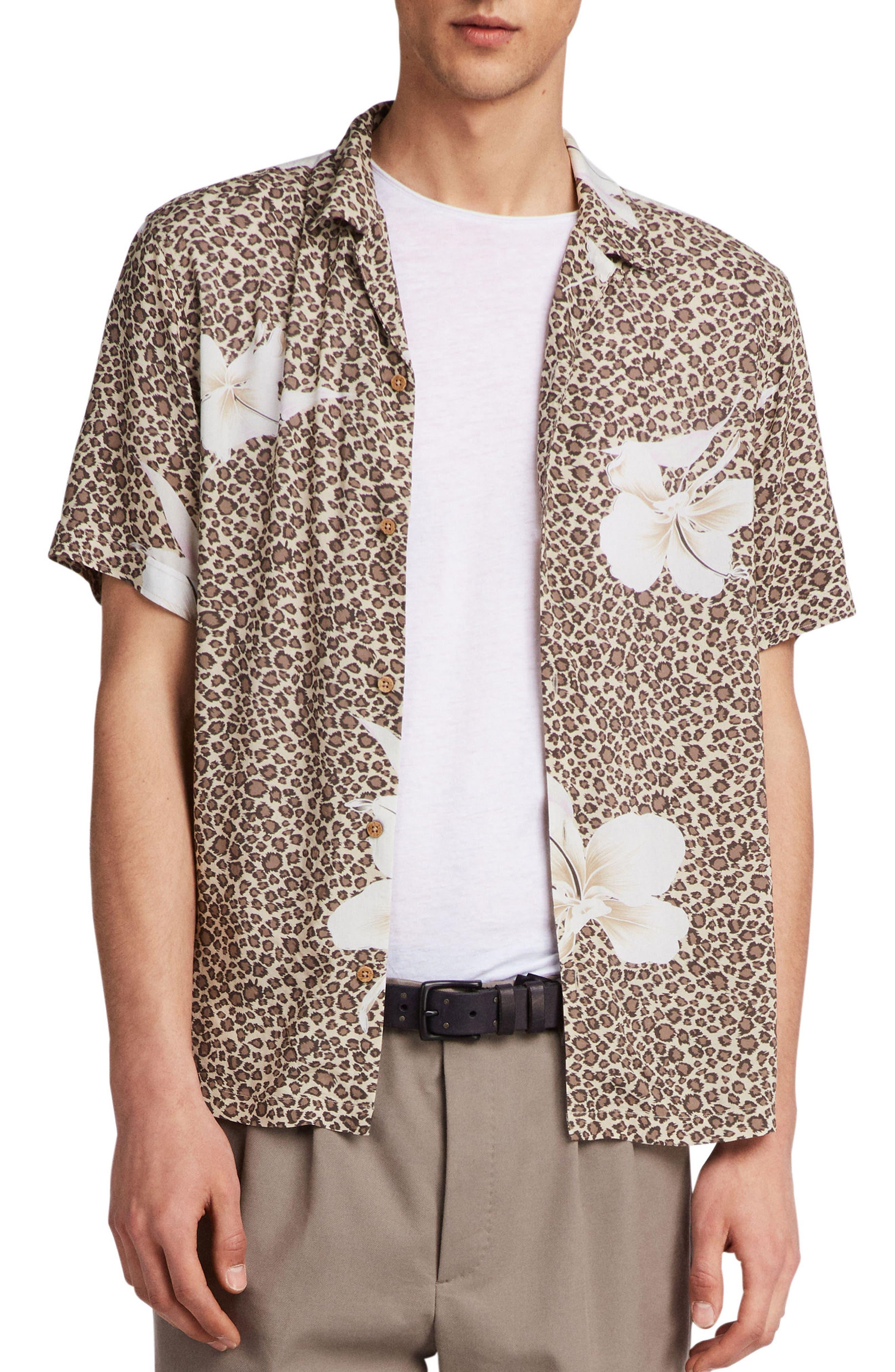 Kuhi Regular Fit Short Sleeve Sport Shirt,                         Main,                         color, SAND