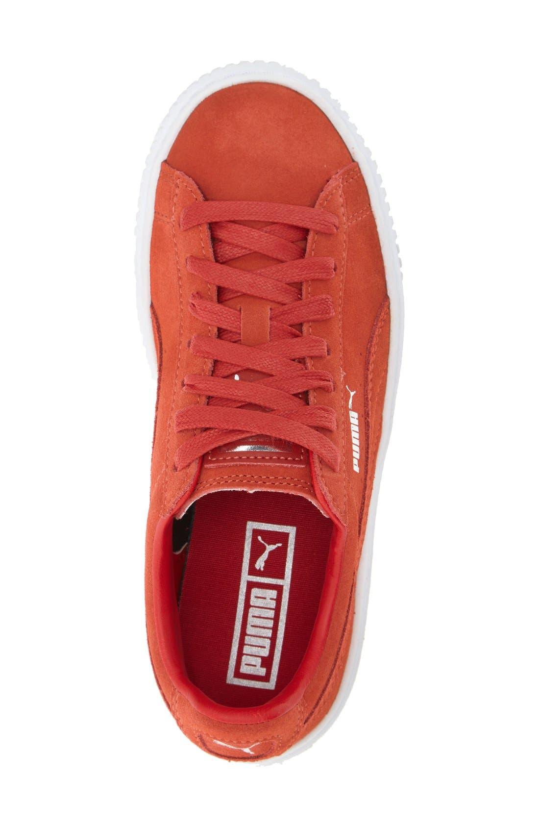 Suede Platform Sneaker,                             Alternate thumbnail 12, color,