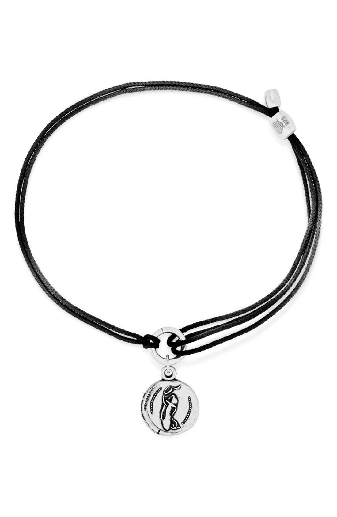 Ballet Slipper Cord Bracelet, Main, color, 040