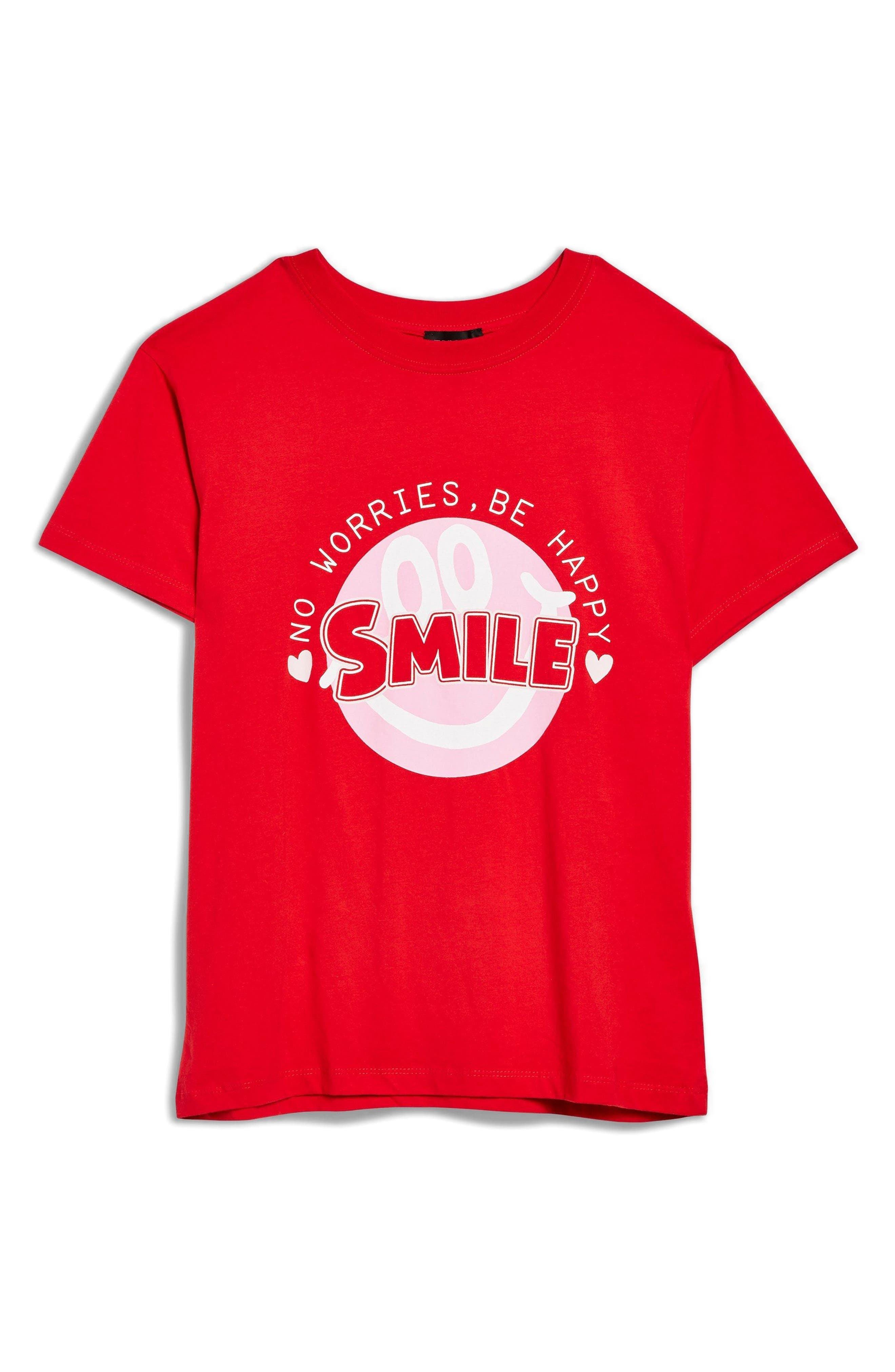 Smile Graphic Tee,                             Alternate thumbnail 3, color,                             600
