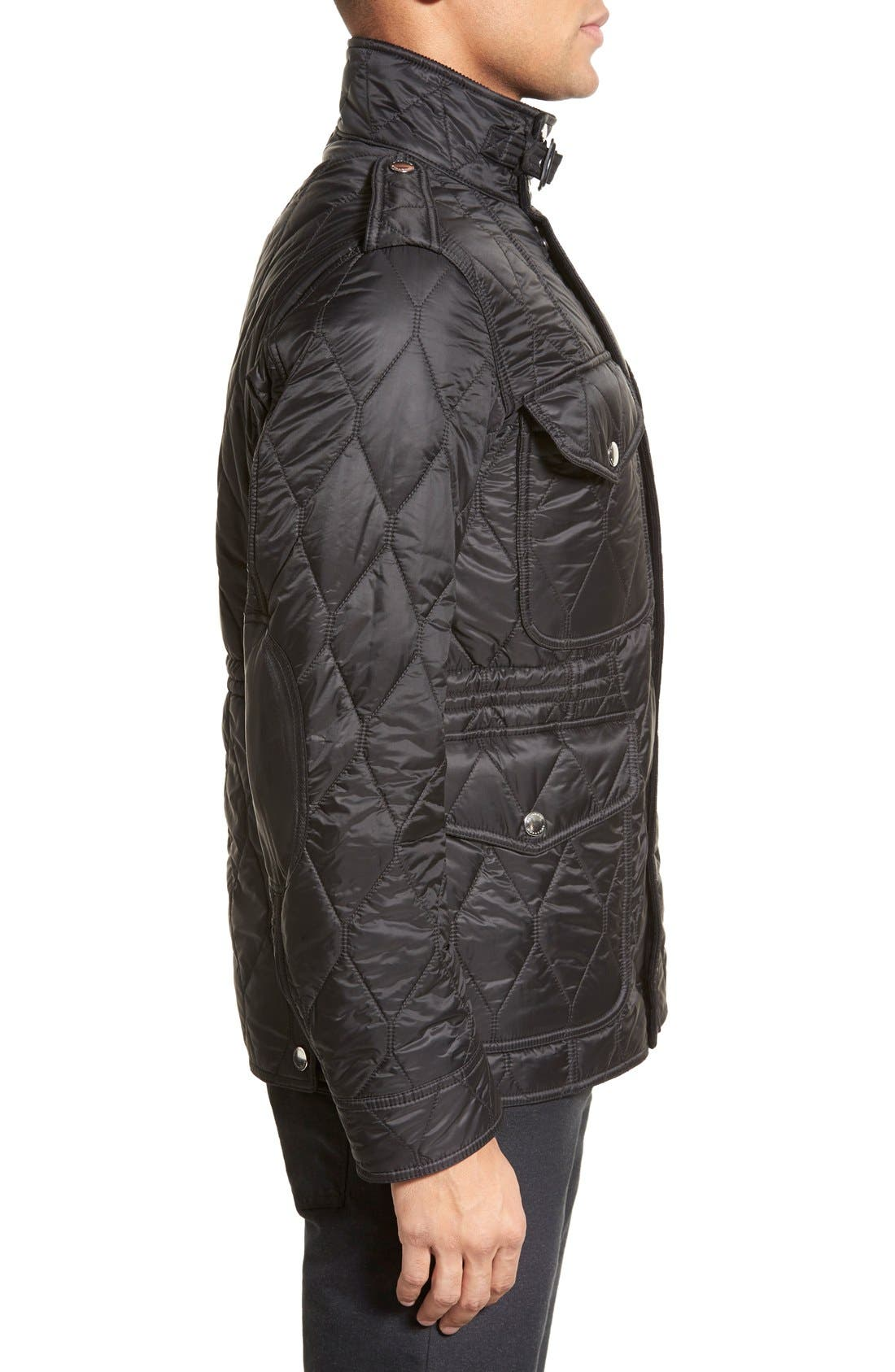 Brit 'Garrington' Quilted Field Jacket,                             Alternate thumbnail 4, color,                             001