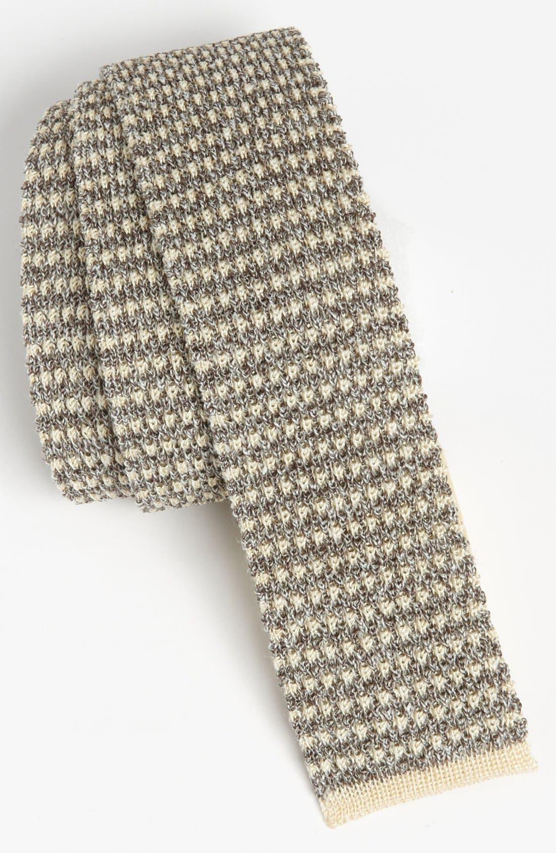 BURBERRY,                             London Knit Tie,                             Main thumbnail 1, color,                             024