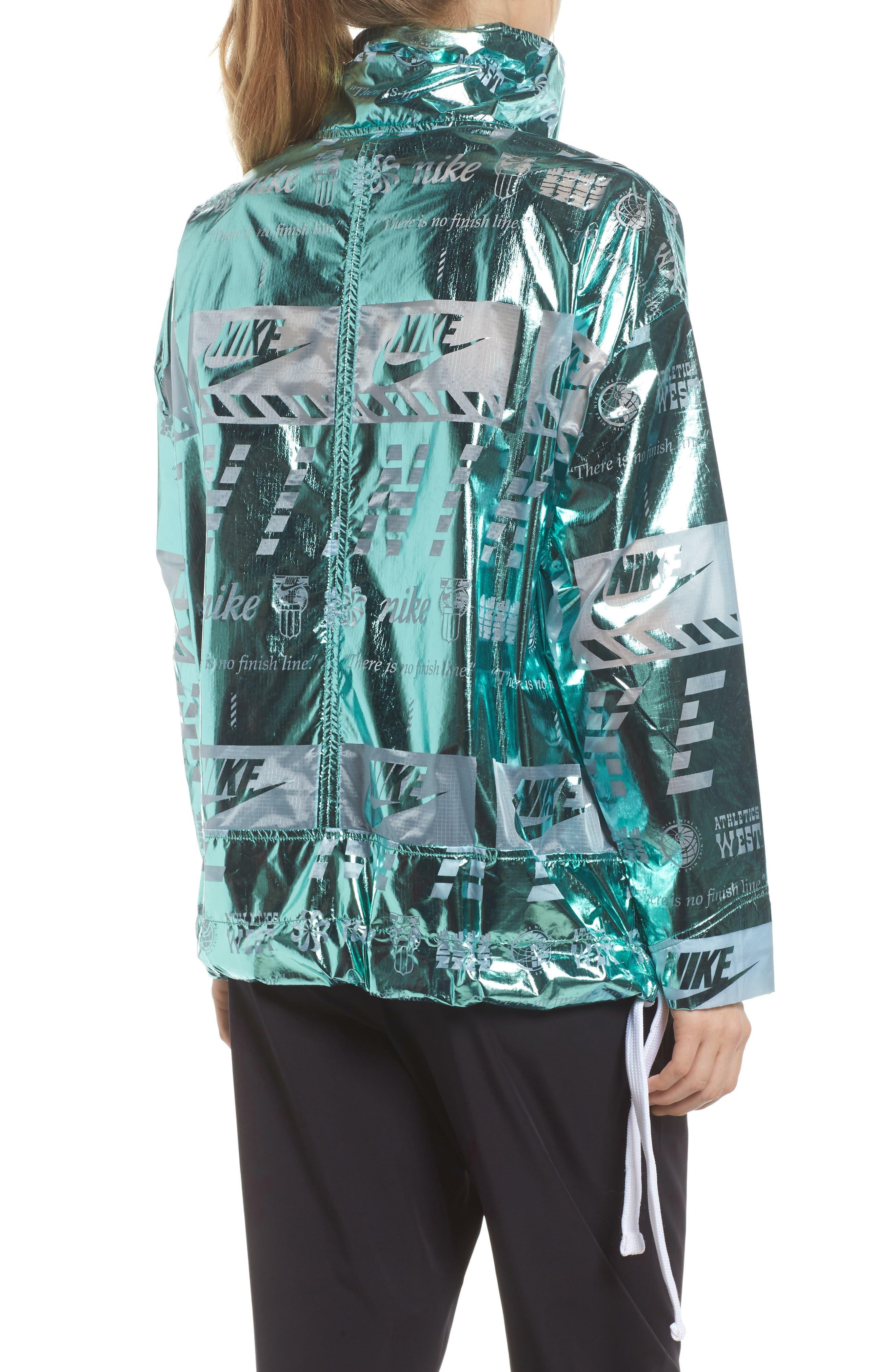 Sportswear Metallic Half Zip Jacket,                             Alternate thumbnail 11, color,
