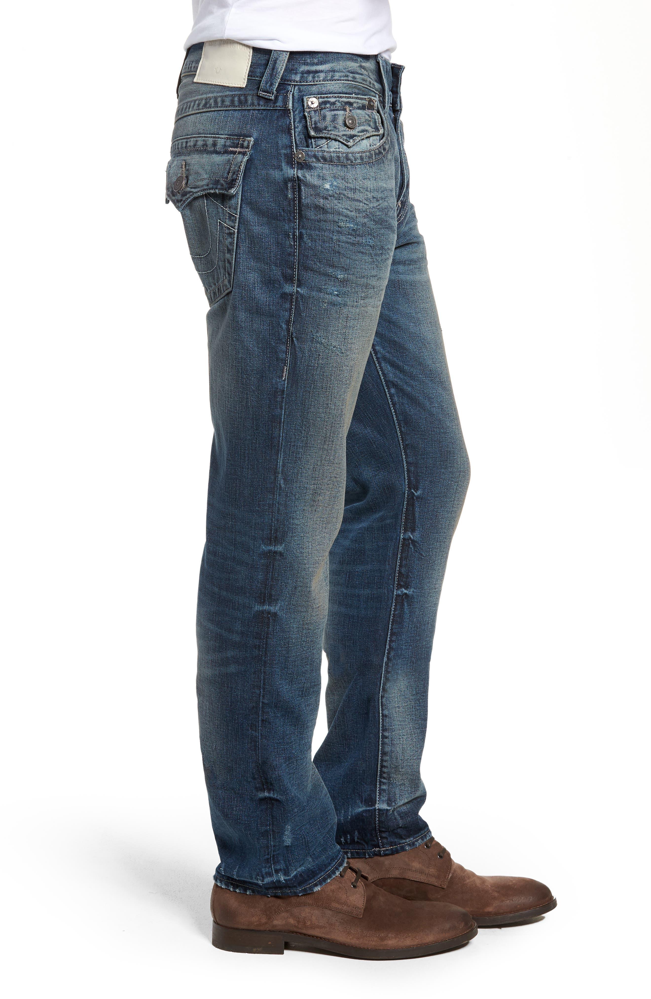 Geno Straight Leg Jeans,                             Alternate thumbnail 3, color,                             COMBAT BLUE