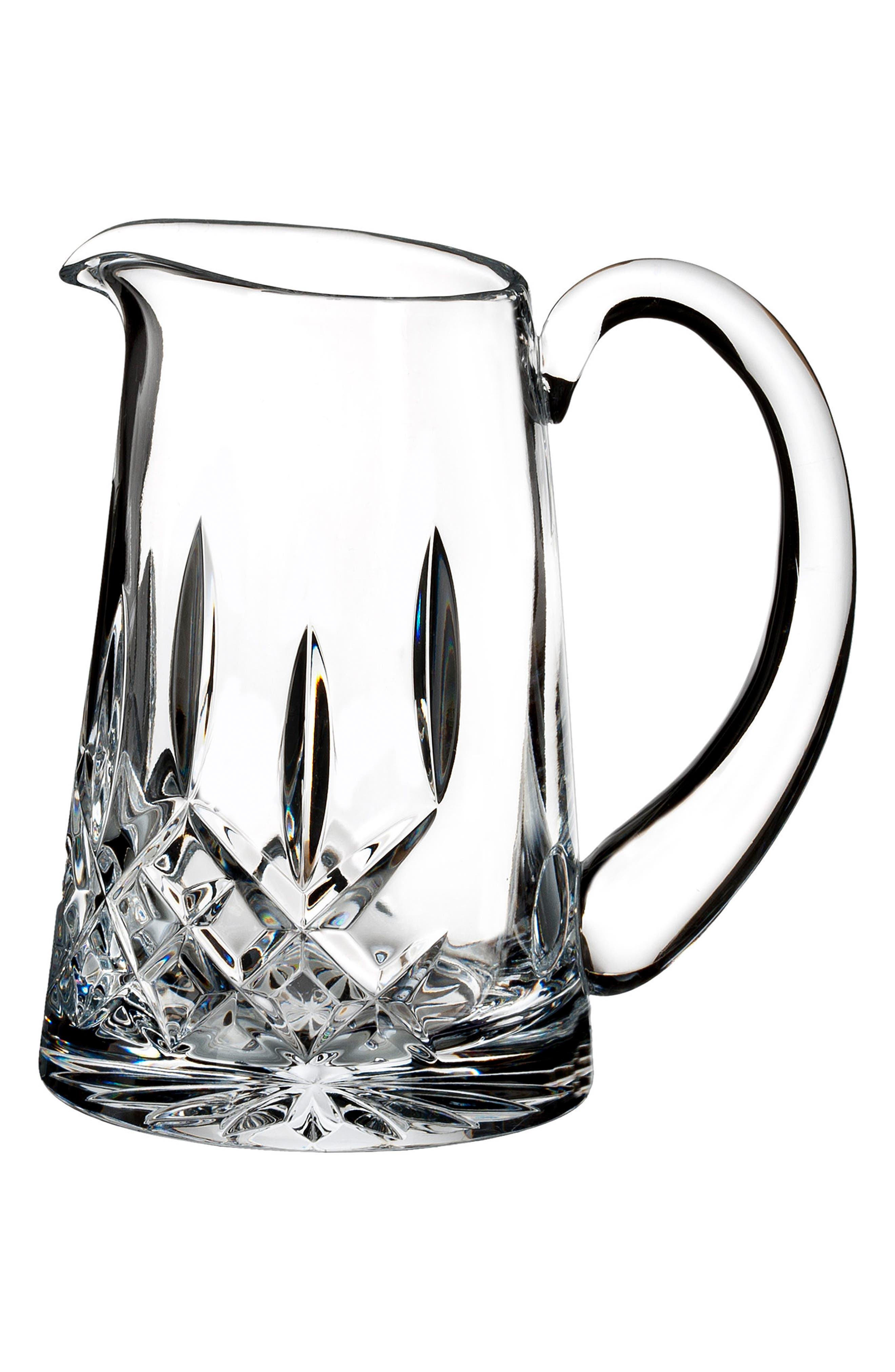 Lismore Lead Crystal Pitcher,                             Main thumbnail 1, color,                             100