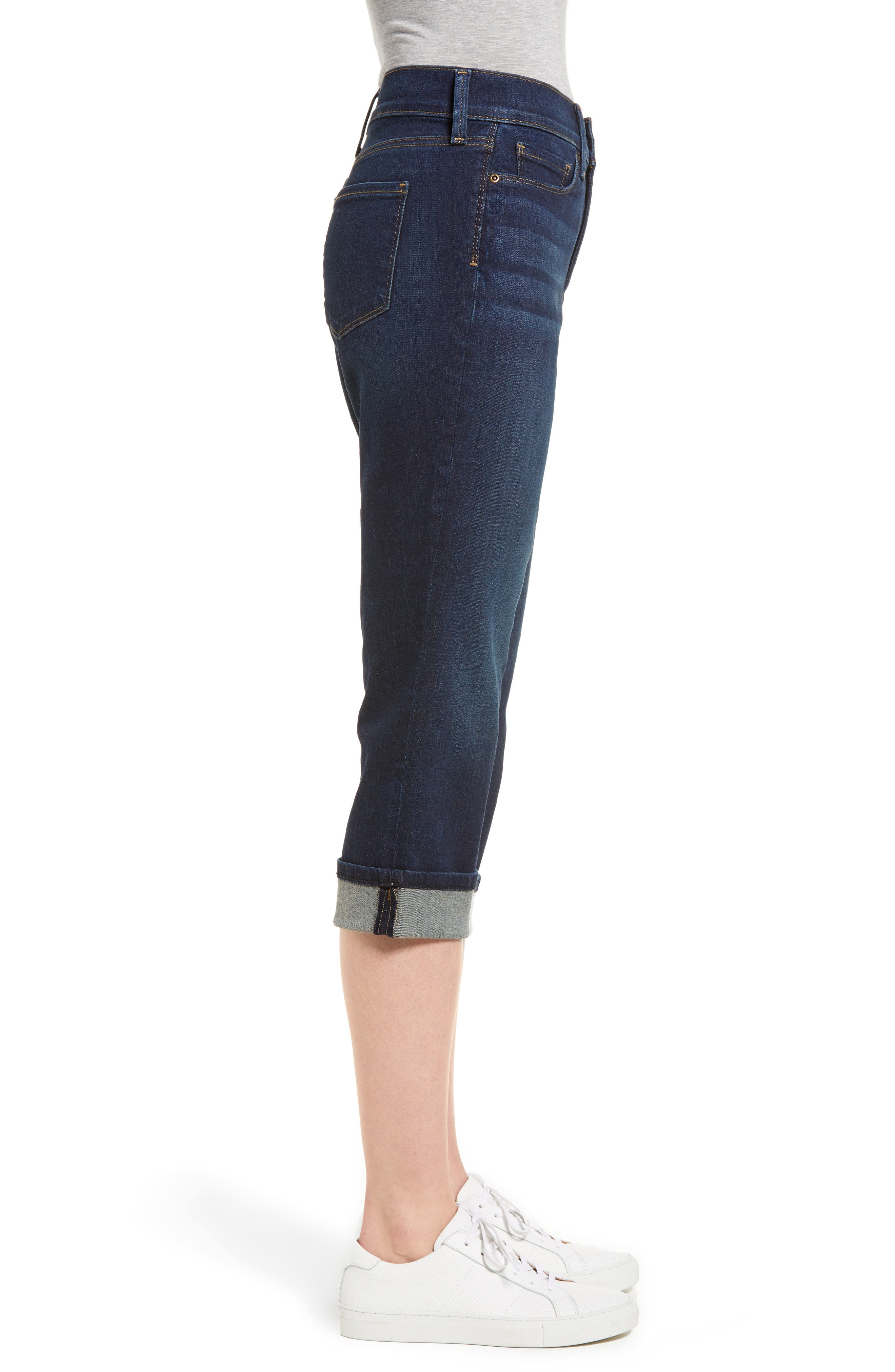 Marilyn Cropped Cuff Jeans,                             Alternate thumbnail 3, color,                             421