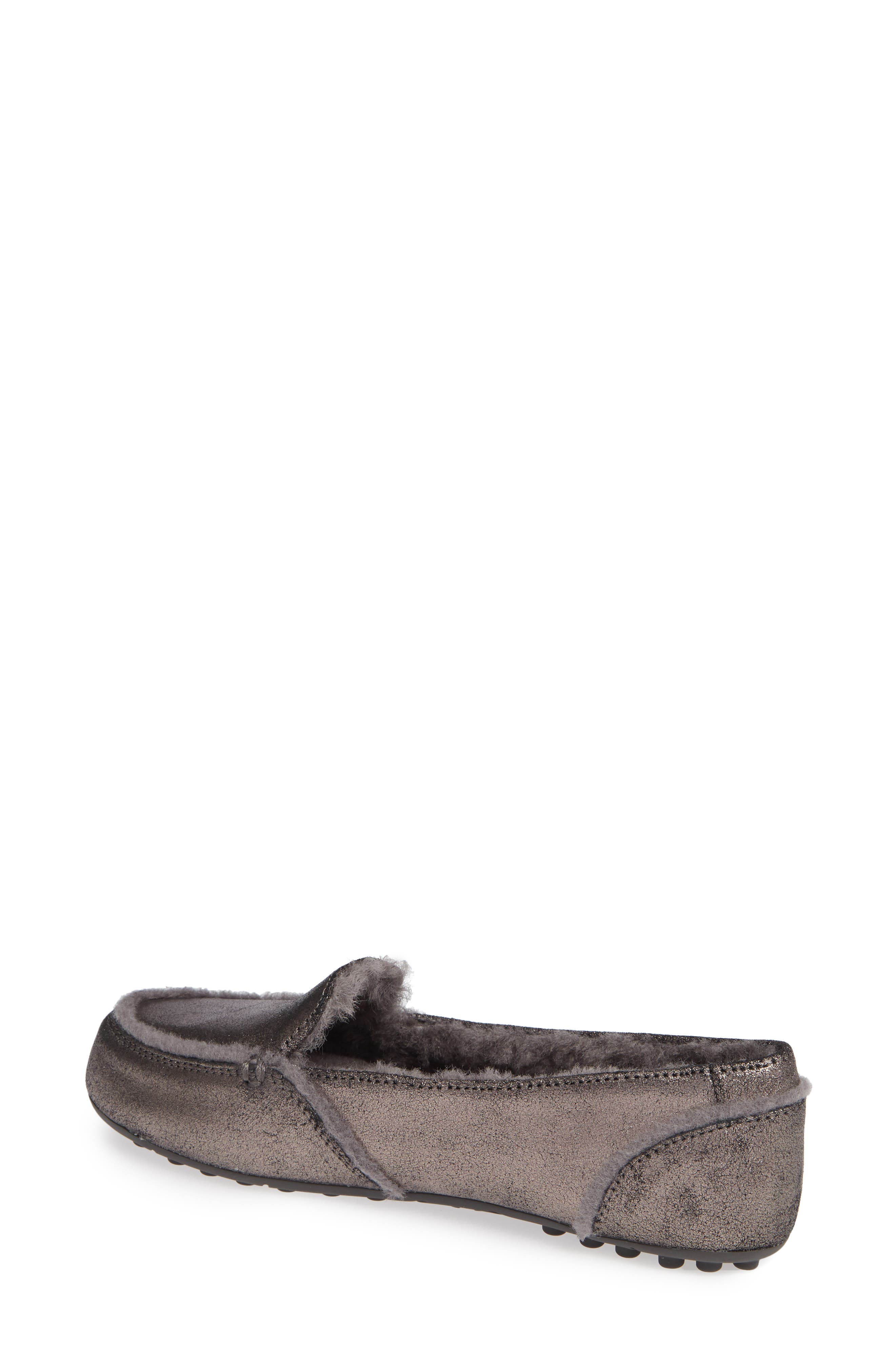 Hailey Metallic Slipper,                             Alternate thumbnail 2, color,                             GUNMETAL
